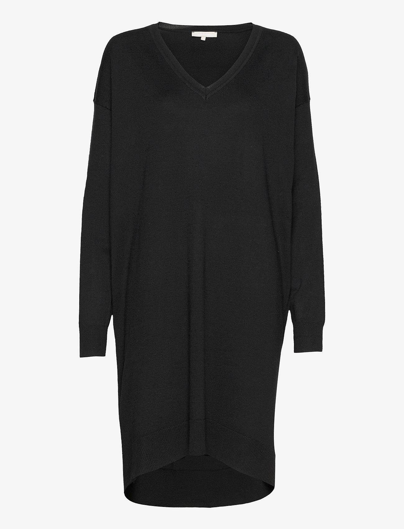 Soft Rebels - SRLea V-neck Dress - sommerkjoler - black - 0