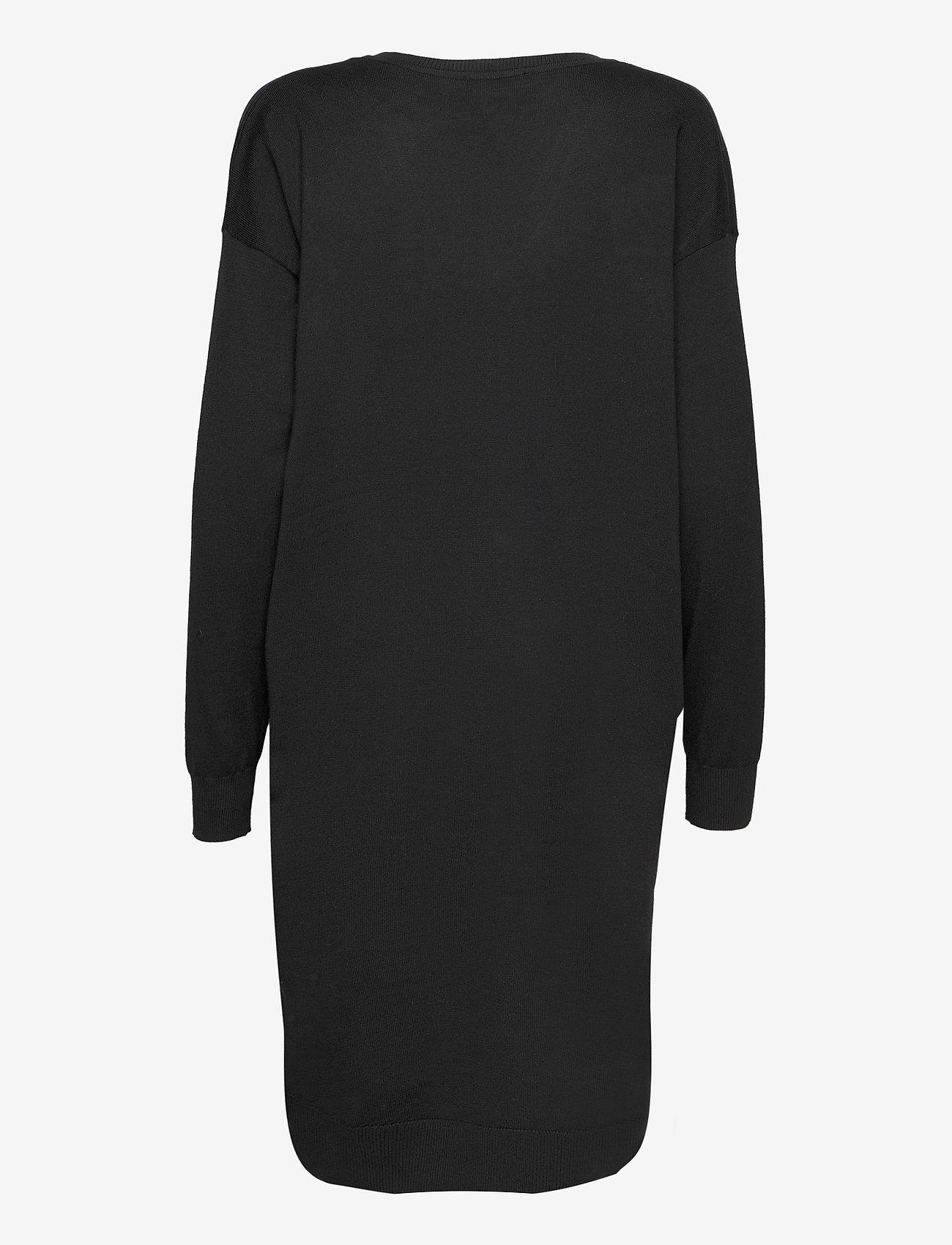Soft Rebels - SRLea V-neck Dress - sommerkjoler - black - 1