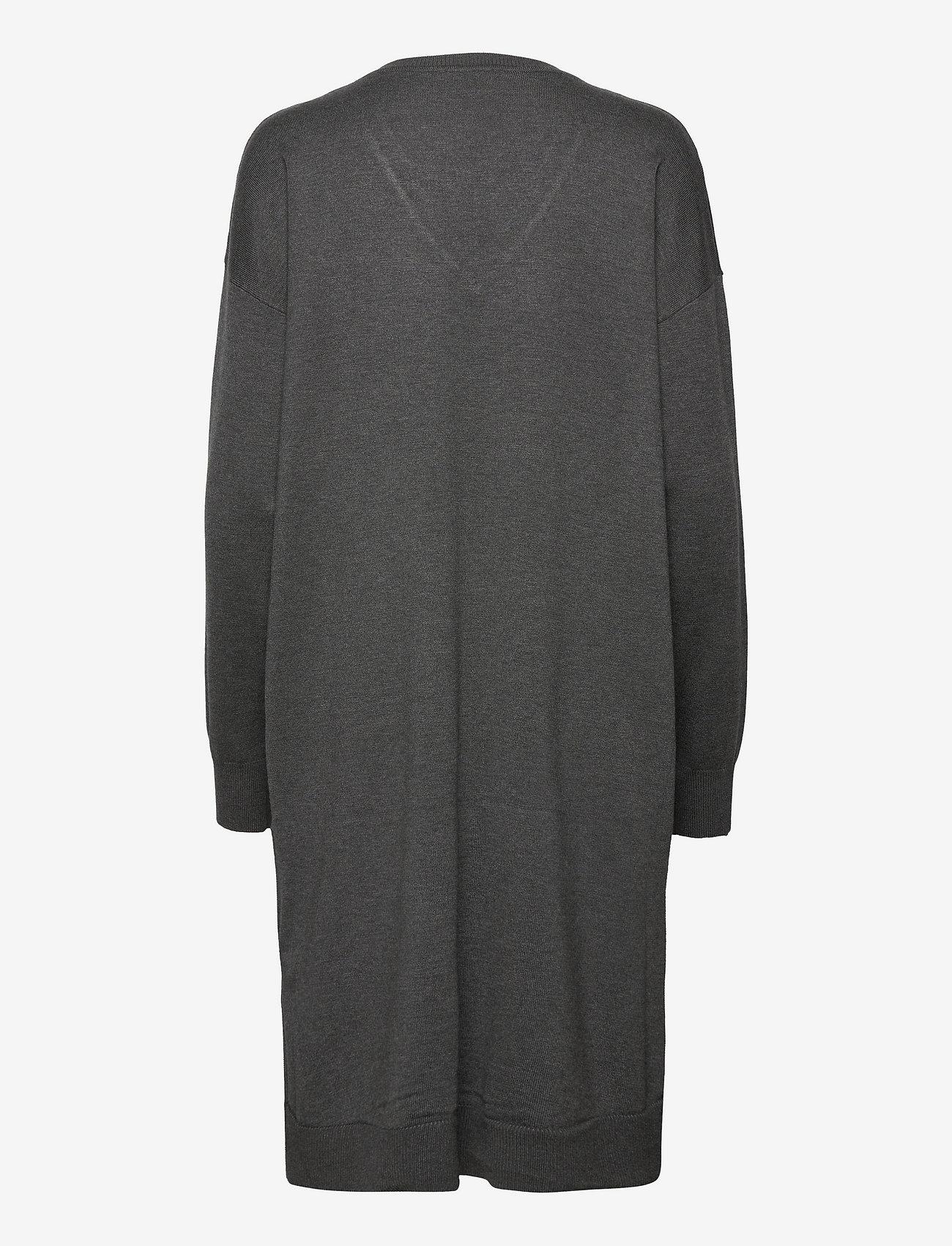 Soft Rebels - SRLea V-neck Dress - sommerkjoler - dark grey melange - 1