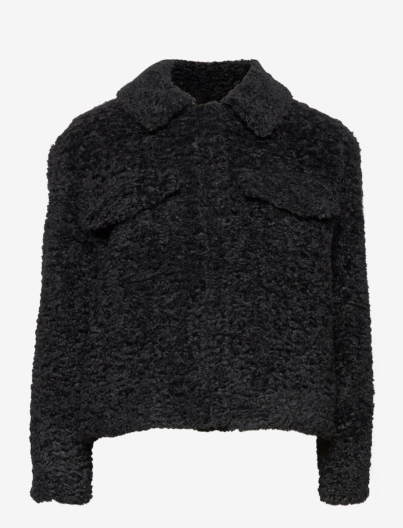 Soft Rebels - Wendy Jacket - faux fur - black - 0