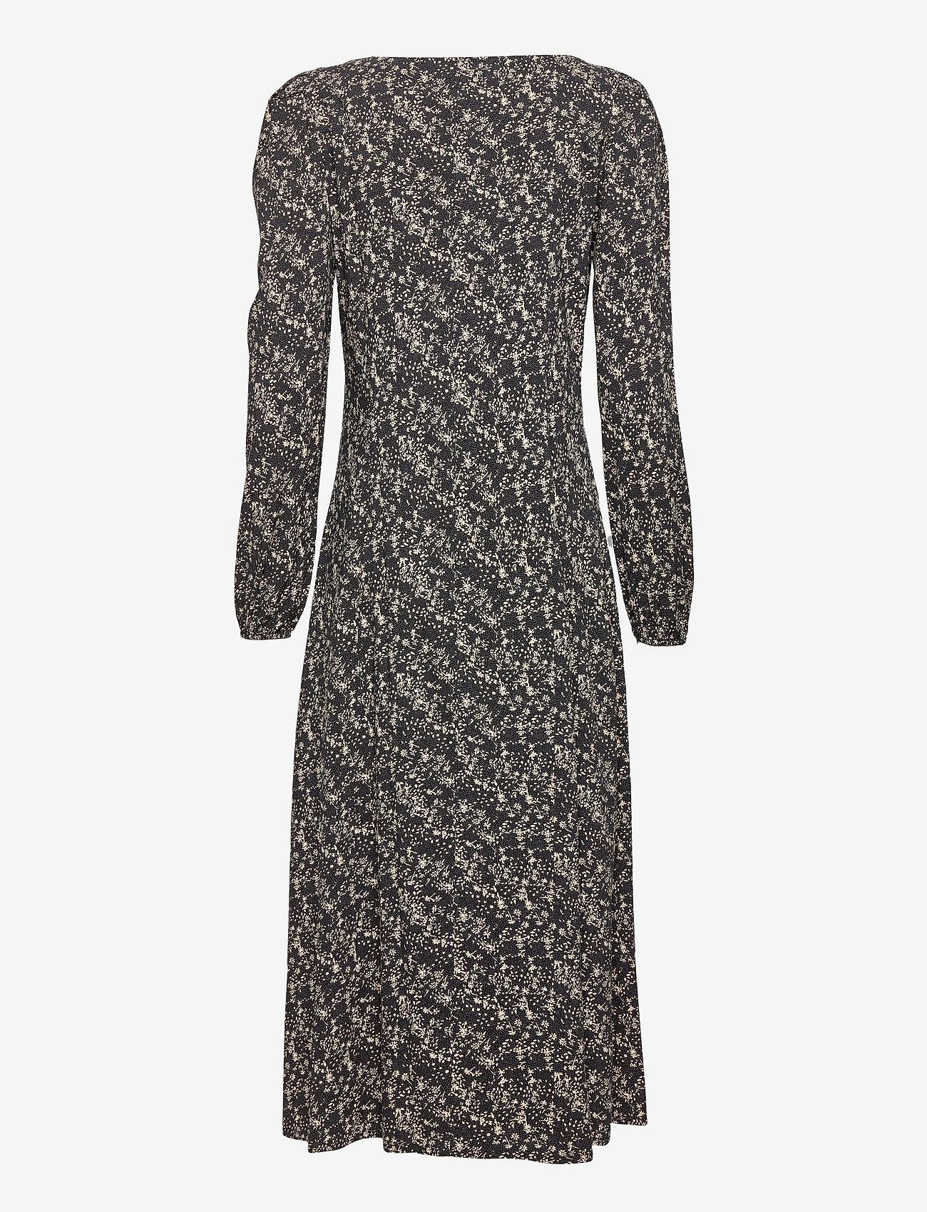 Soft Rebels - Dee Midi Dress - summer dresses - mini leaf black print - 1