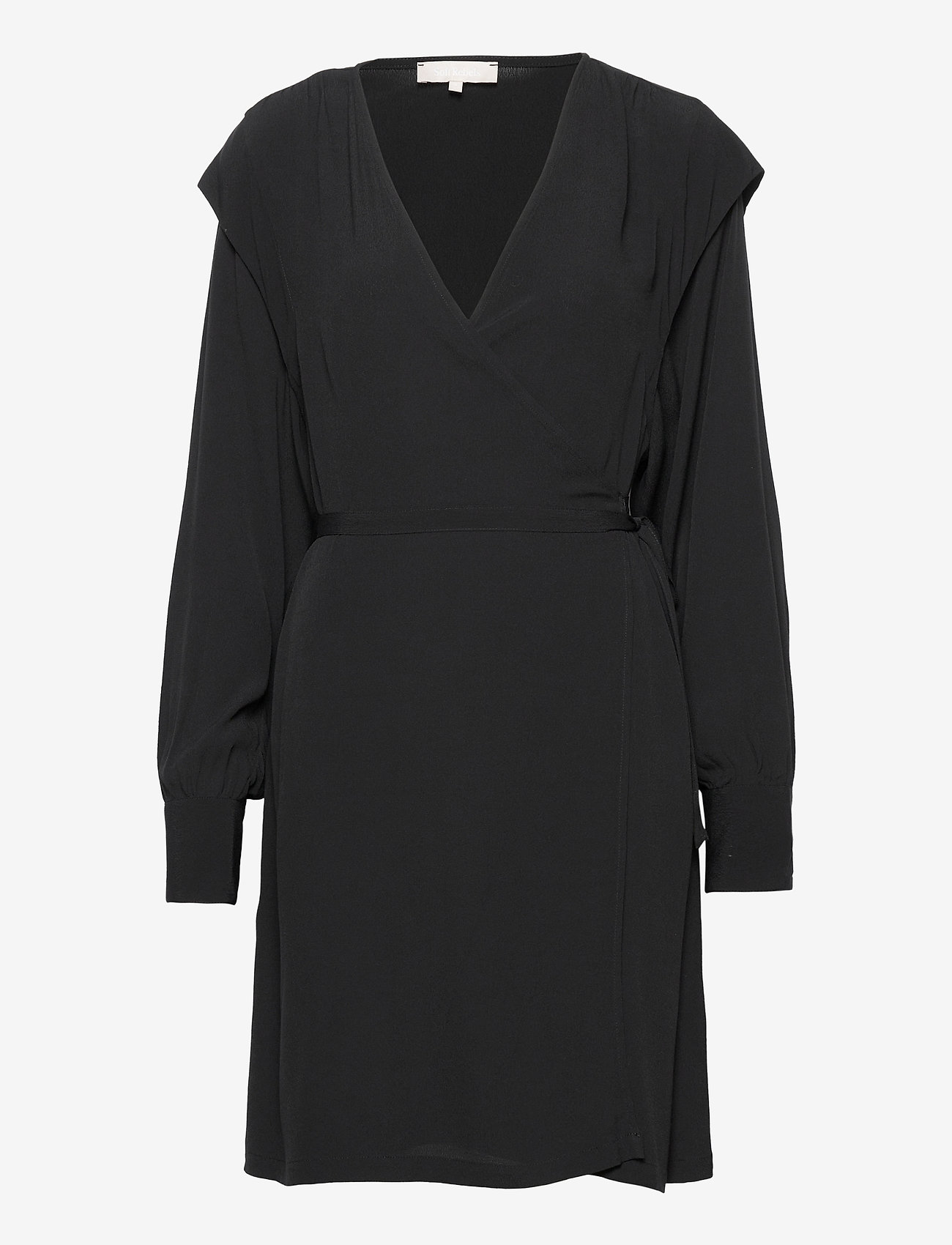 Soft Rebels - Dora Wrap Dress - summer dresses - black - 0