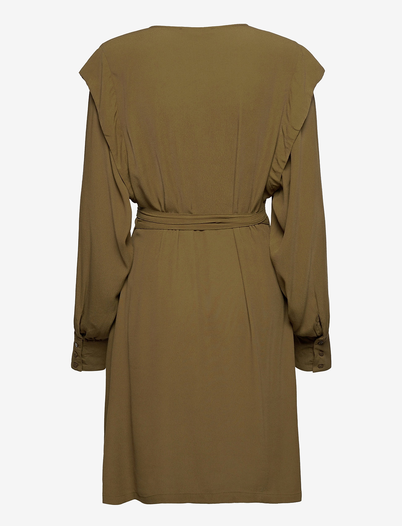 Soft Rebels - Dora Wrap Dress - summer dresses - dark olive - 1