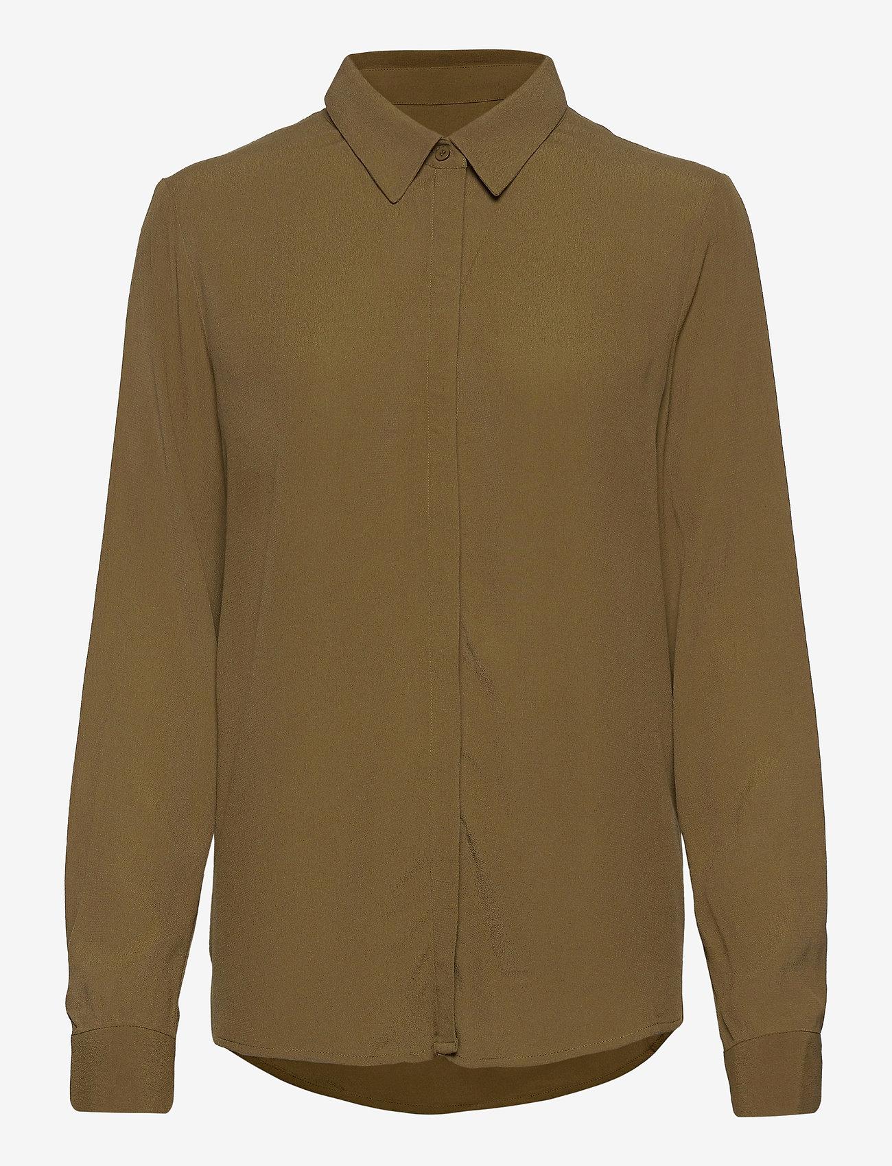 Soft Rebels - Dora LS Shirt - long sleeved blouses - dark olive - 0