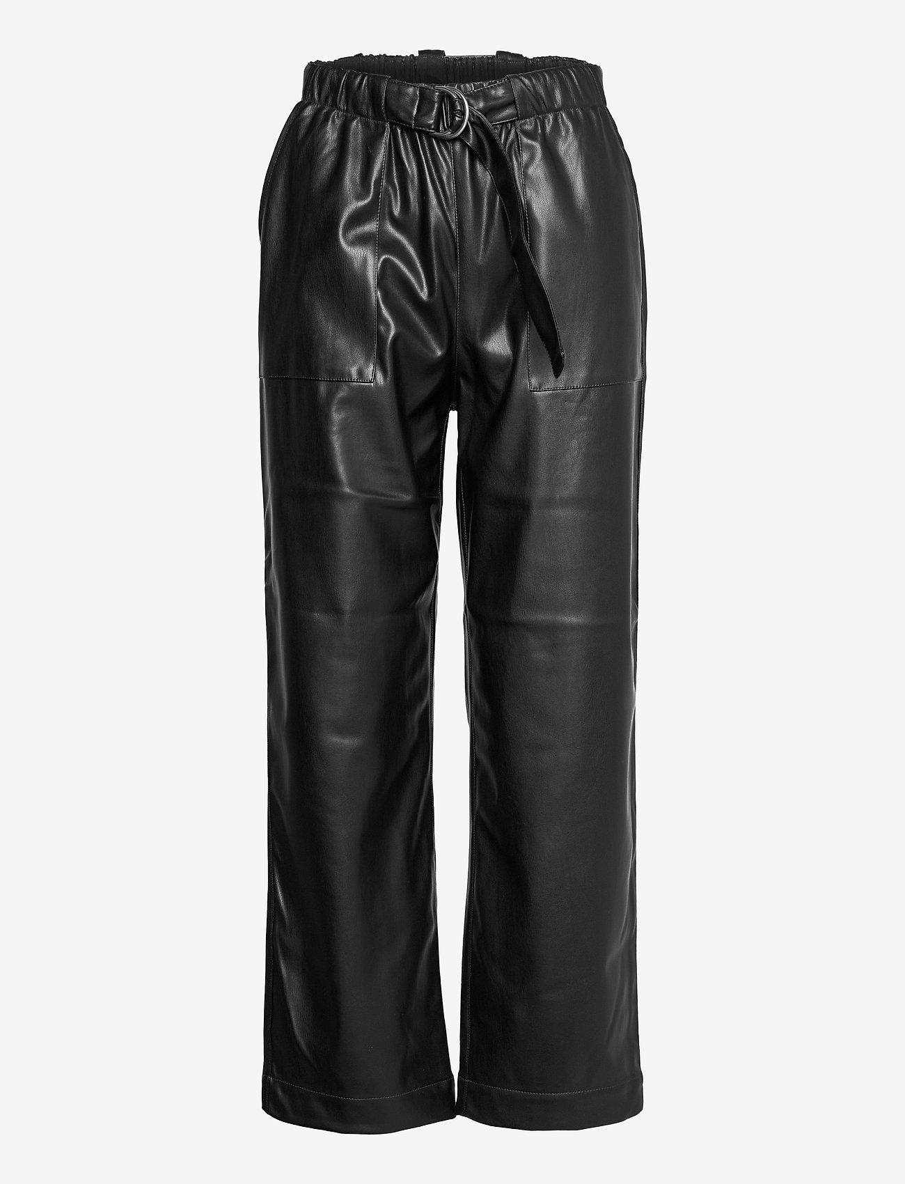Soft Rebels - Alba 7/8 Pant - wide leg trousers - black - 0