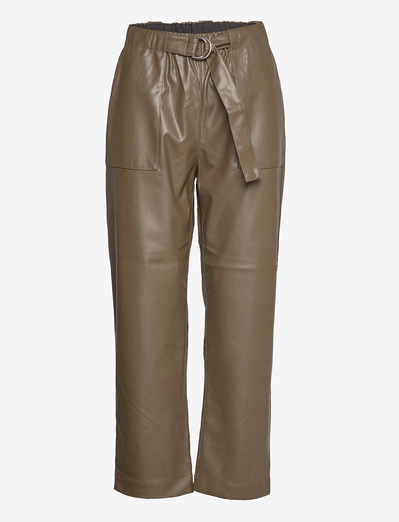 Soft Rebels - Alba 7/8 Pant - bukser med brede ben - dark olive - 0