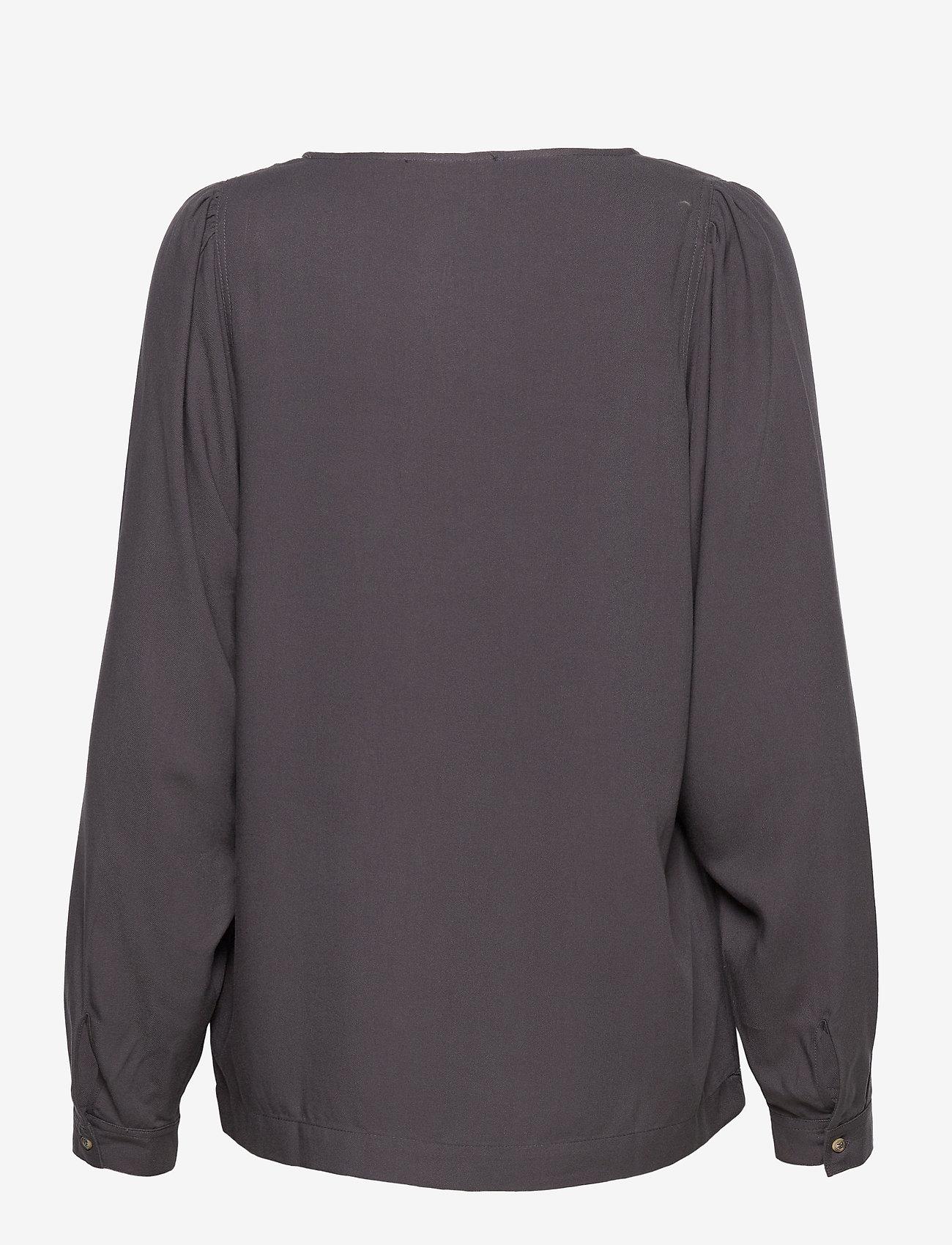 Soft Rebels - Bianca LS Top - long sleeved blouses - asphalt - 1