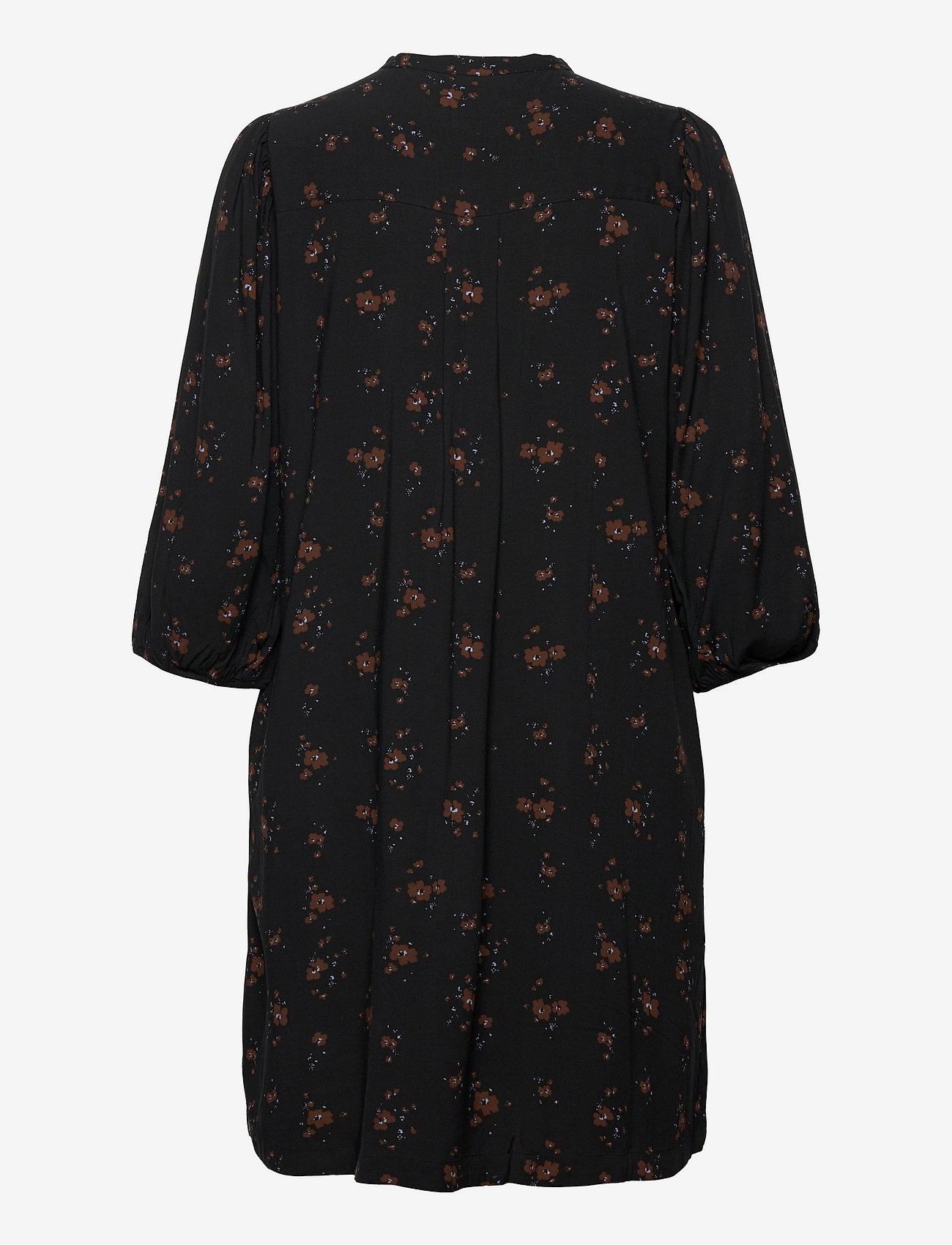 Soft Rebels - SREllie 3/4 Dress - sommerkjoler - flower print chocolate - 1
