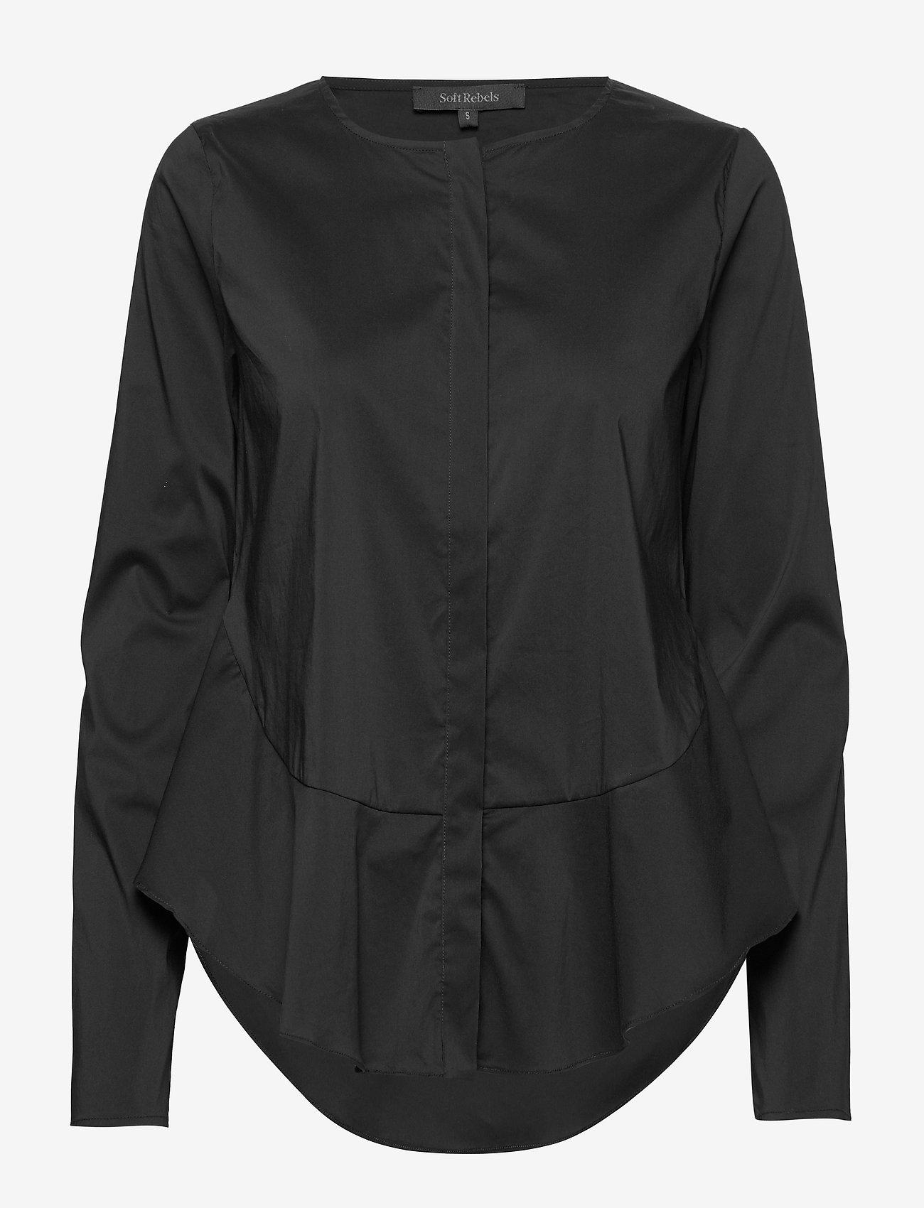 Soft Rebels - Aimee Shirt - long sleeved blouses - black - 1