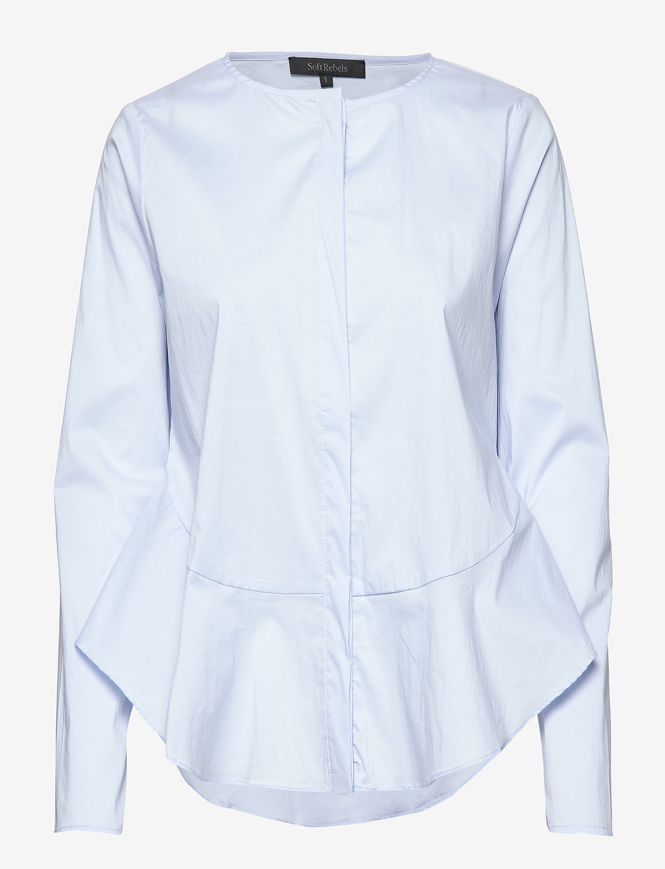 Soft Rebels - Aimee Shirt - long sleeved blouses - cashmere blue - 1
