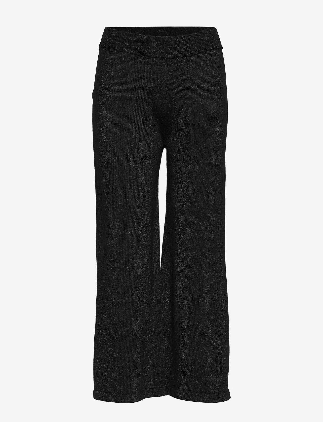 Soft Rebels - Lyne pants knit - uitlopende broeken - black - 0