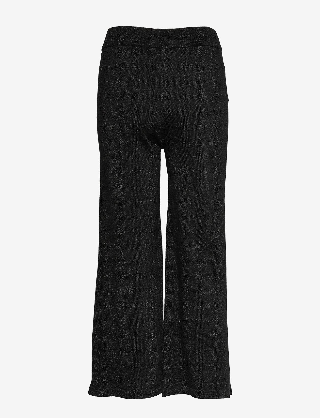 Soft Rebels - Lyne pants knit - uitlopende broeken - black - 1