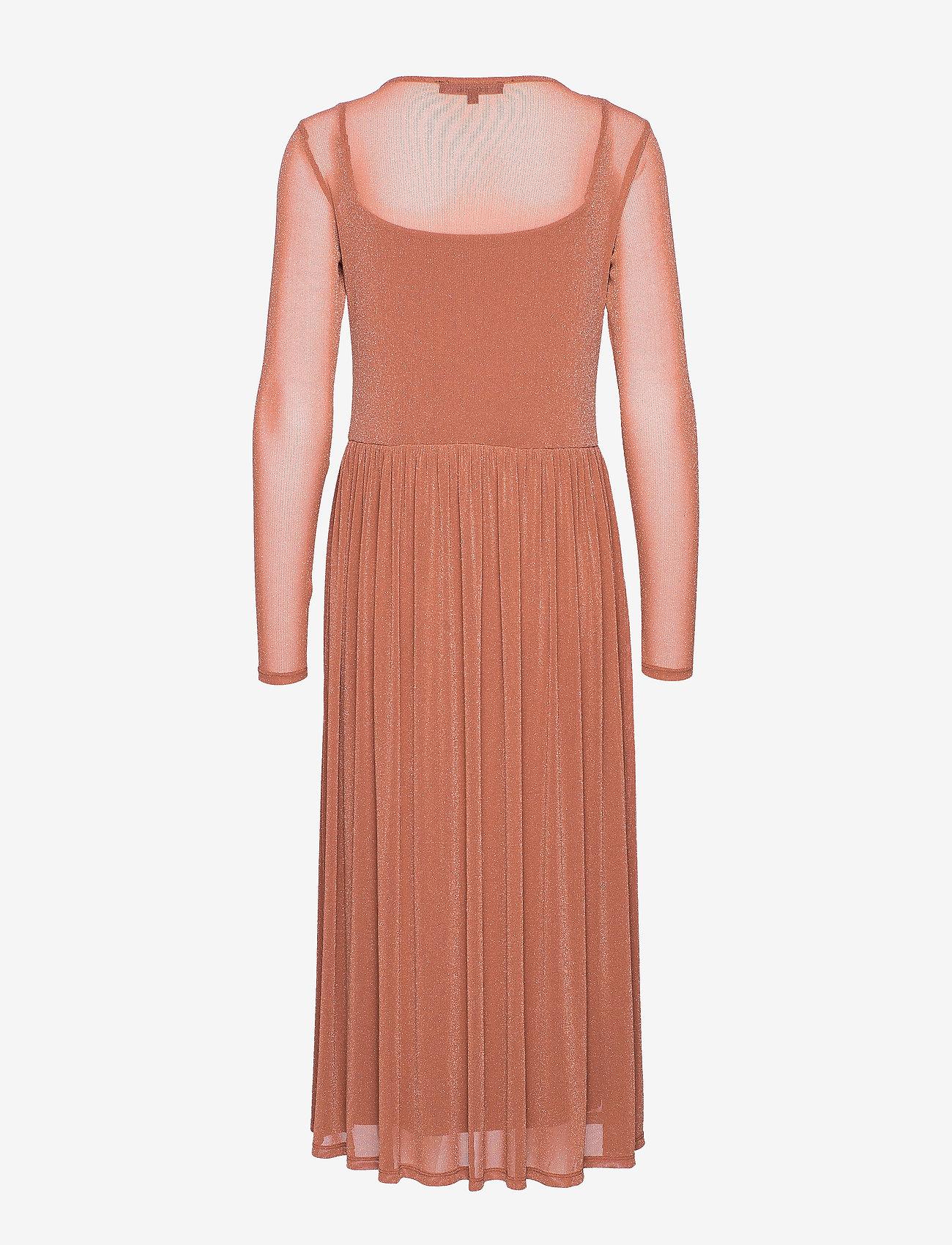 Soft Rebels Alberte Midi Dress - Sukienki COPPER BROWN - Kobiety Odzież.