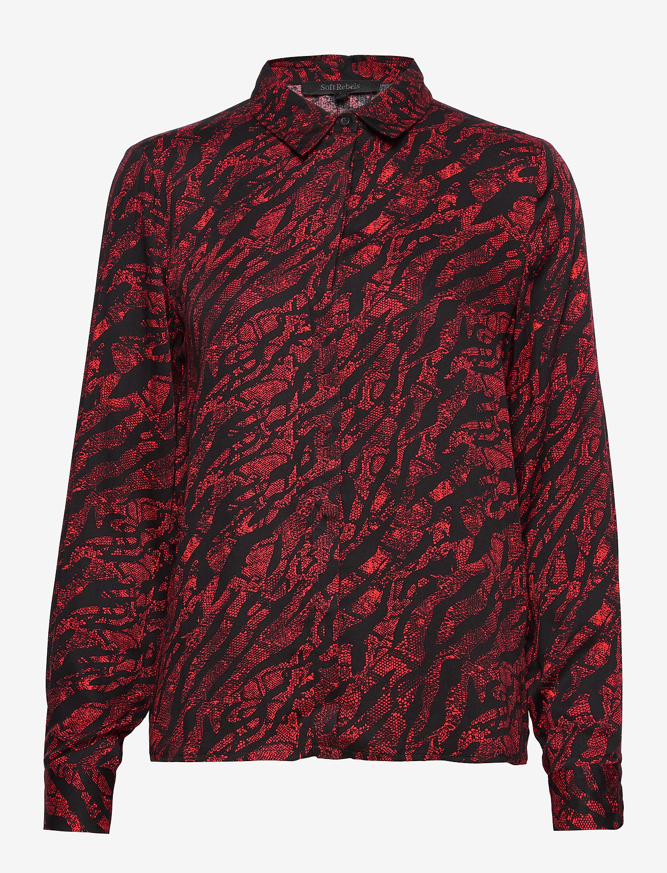 Soft Rebels - Animal LS Shirt - long sleeved blouses - animal flame scarlet - 0