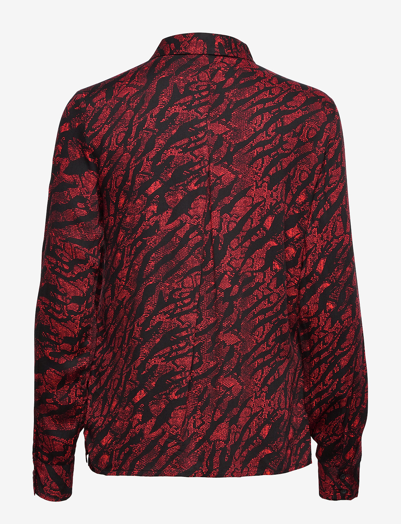 Soft Rebels - Animal LS Shirt - blouses med lange mouwen - animal flame scarlet - 1