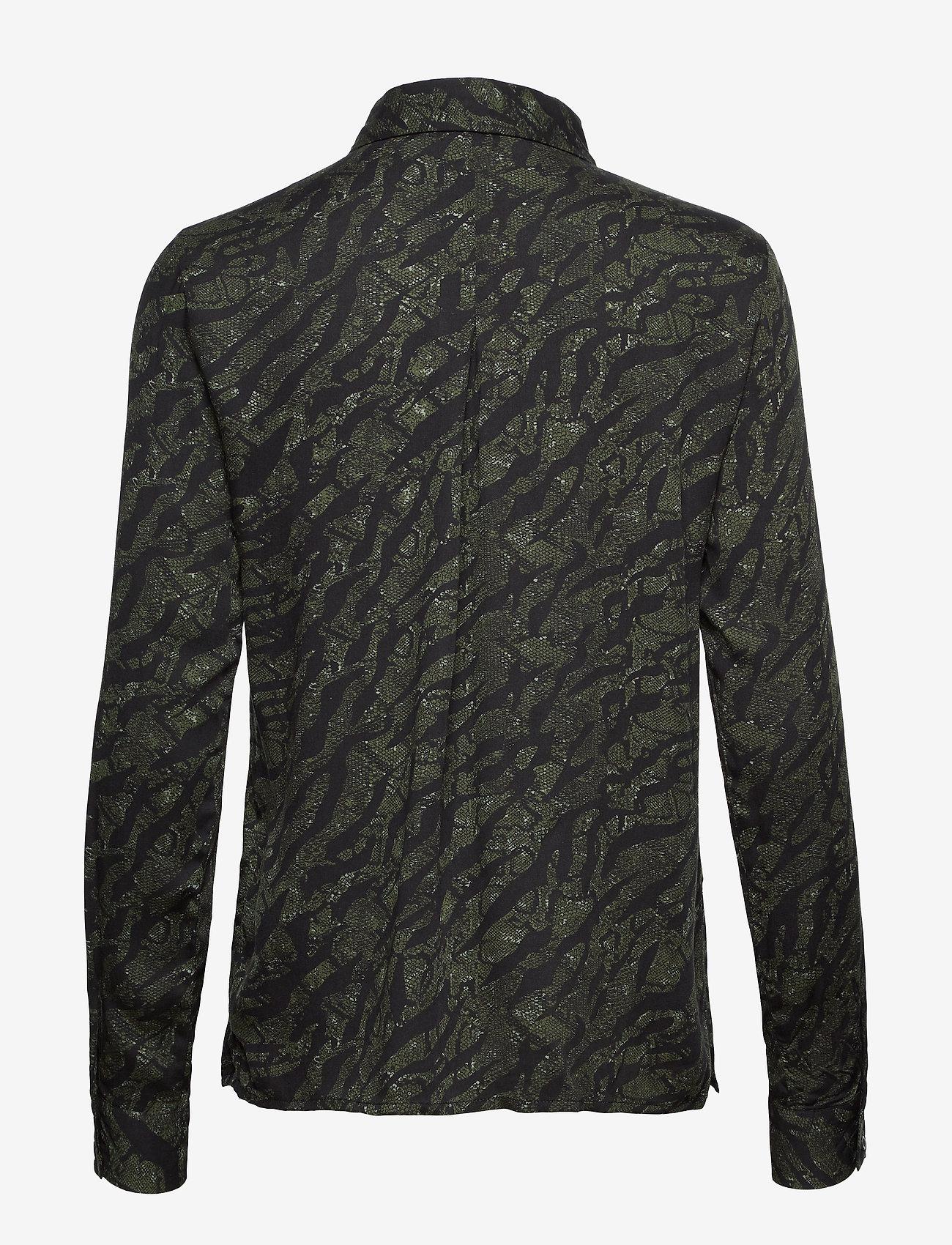 Soft Rebels - Animal LS Shirt - blouses med lange mouwen - animal scarab - 1