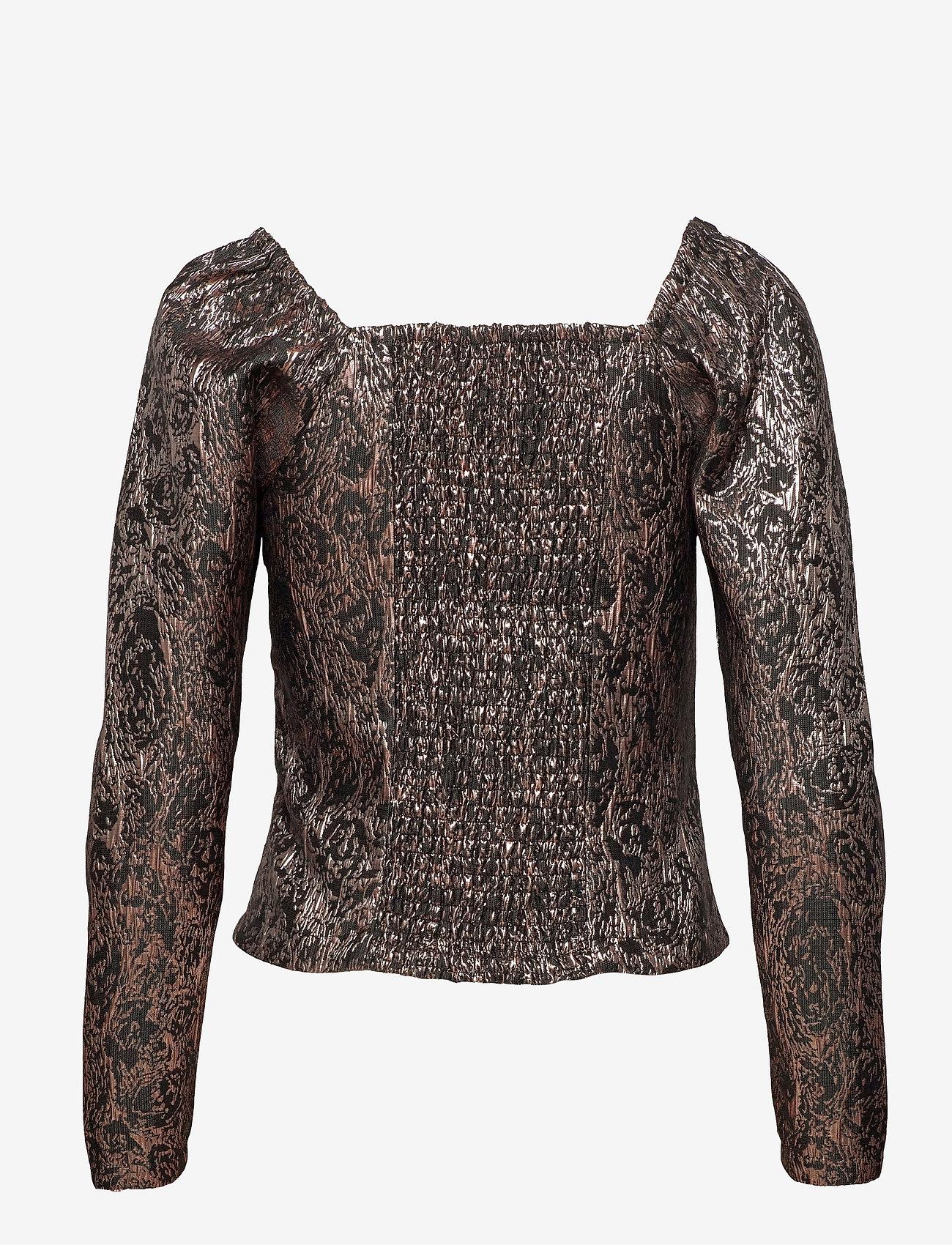 Soft Rebels - SRWilhelmina LS Top - long sleeved blouses - asphalt - 1