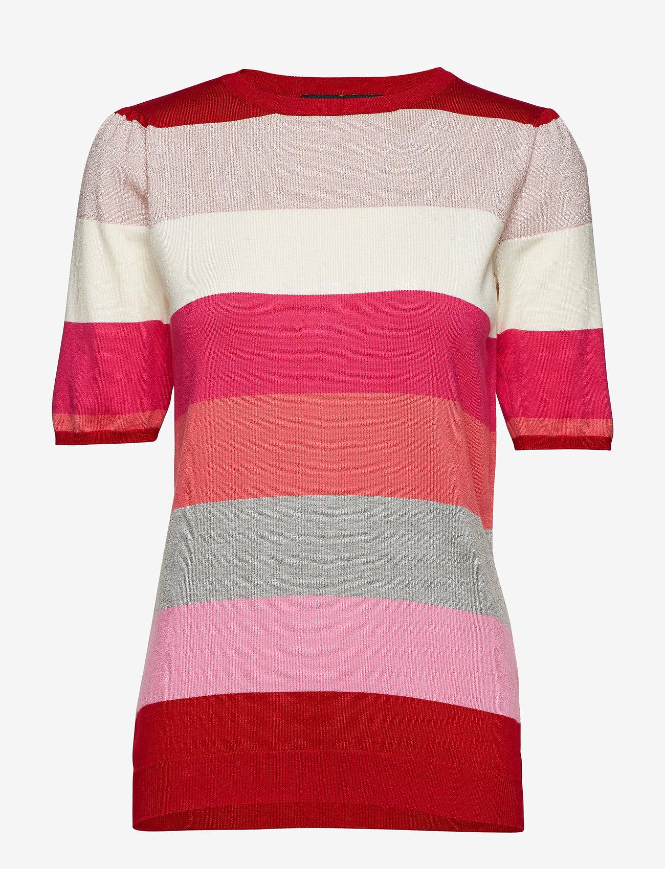 Soft Rebels - Charlie Blouse - short-sleeved blouses - 350 spizy red