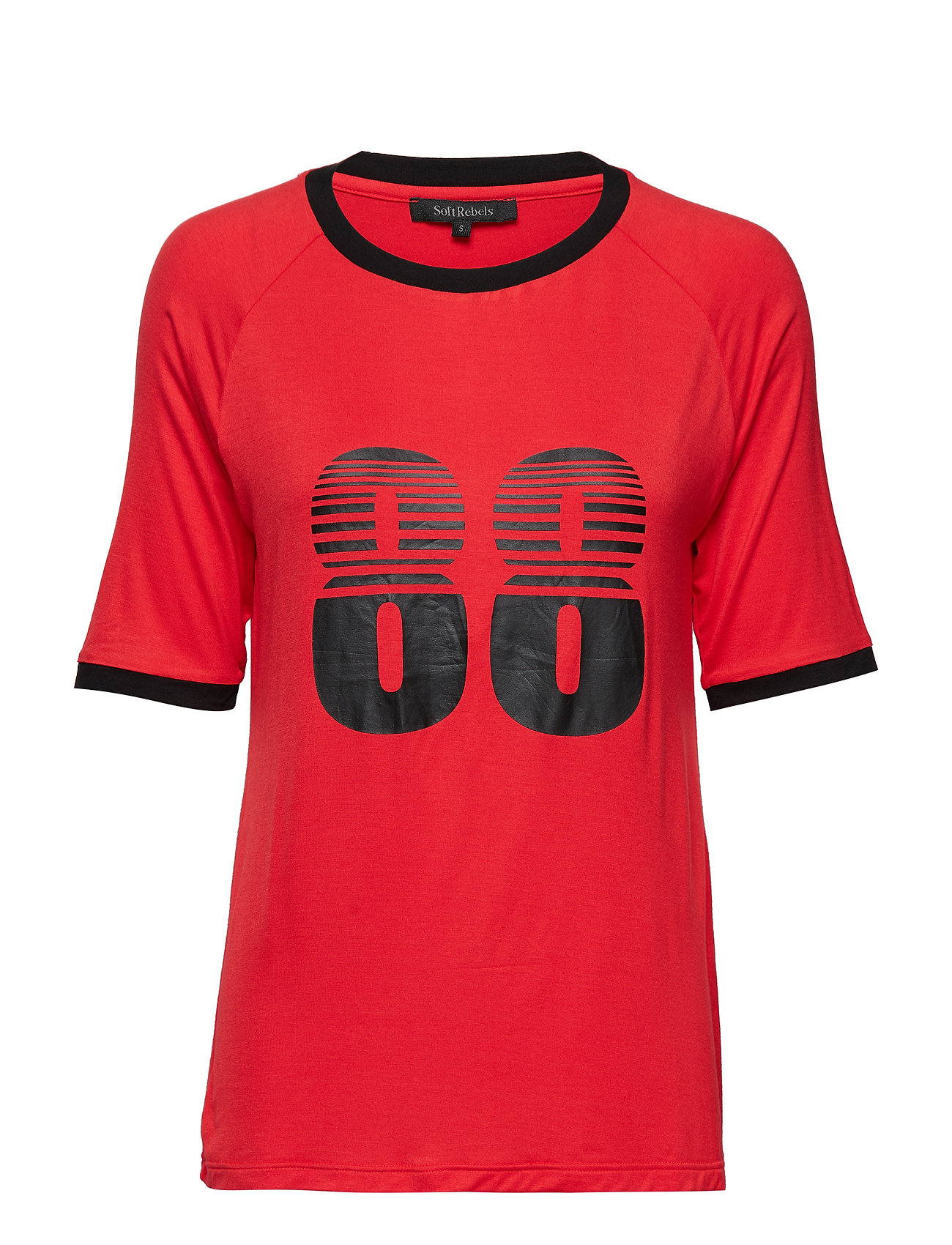 Soft Rebels Asta t-shirt - POPPY RED