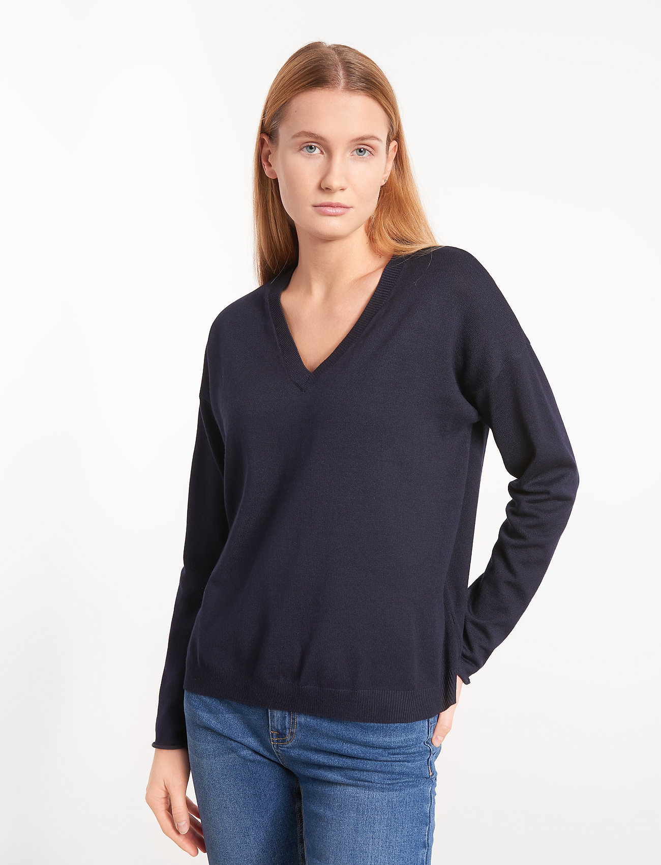Soft Rebels - SRMarla V-neck Knit - trøjer - total eclipse - 0