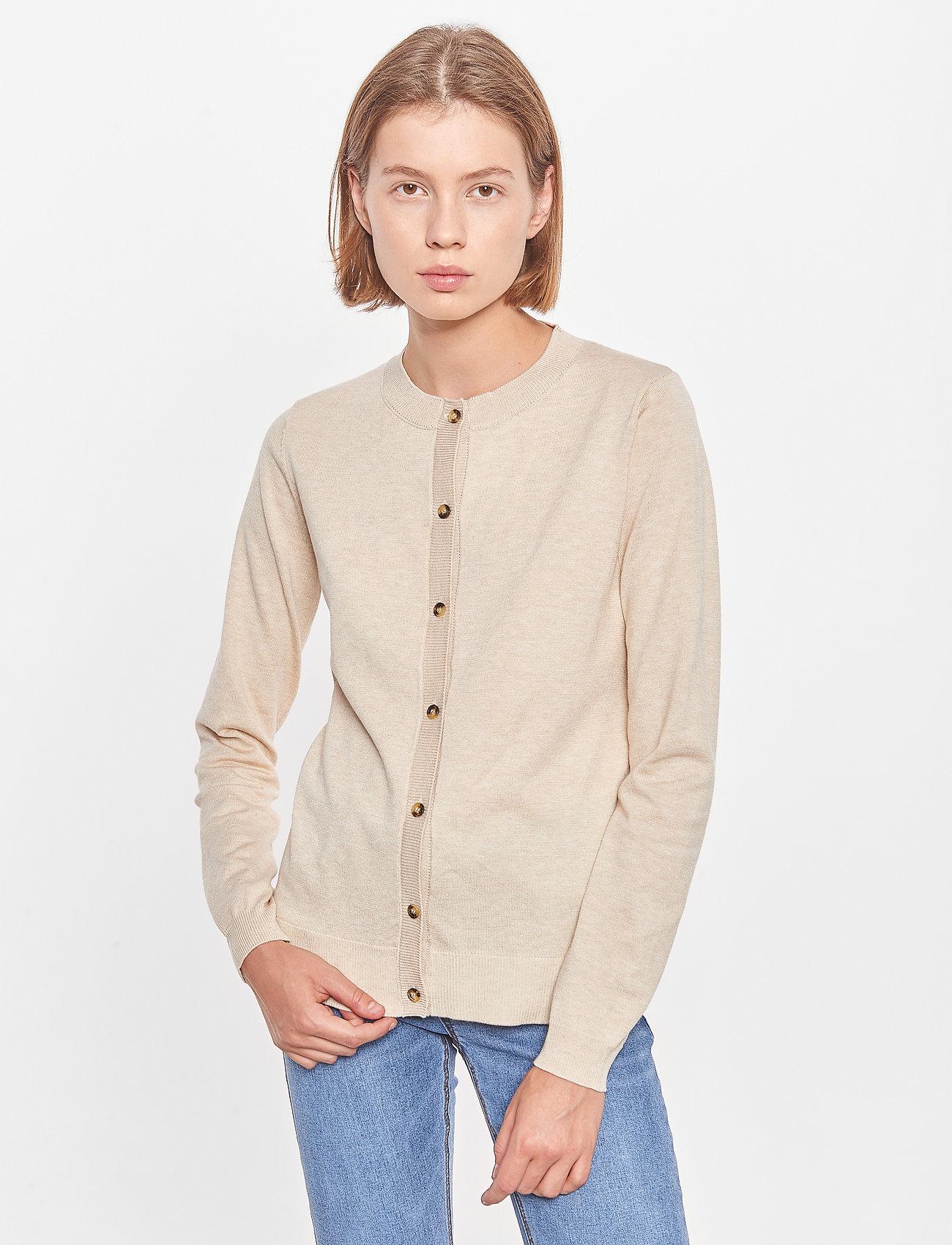 Soft Rebels - SRMarla New O-neck Cardigan - cardigans - whitecap gray - 0