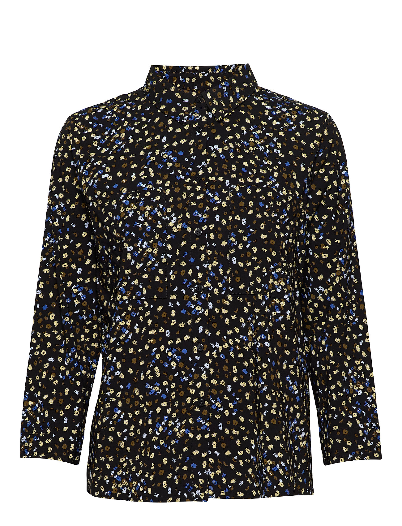 Soft Rebels Flora 3/4 Shirt - FLORA MULTI PRINT