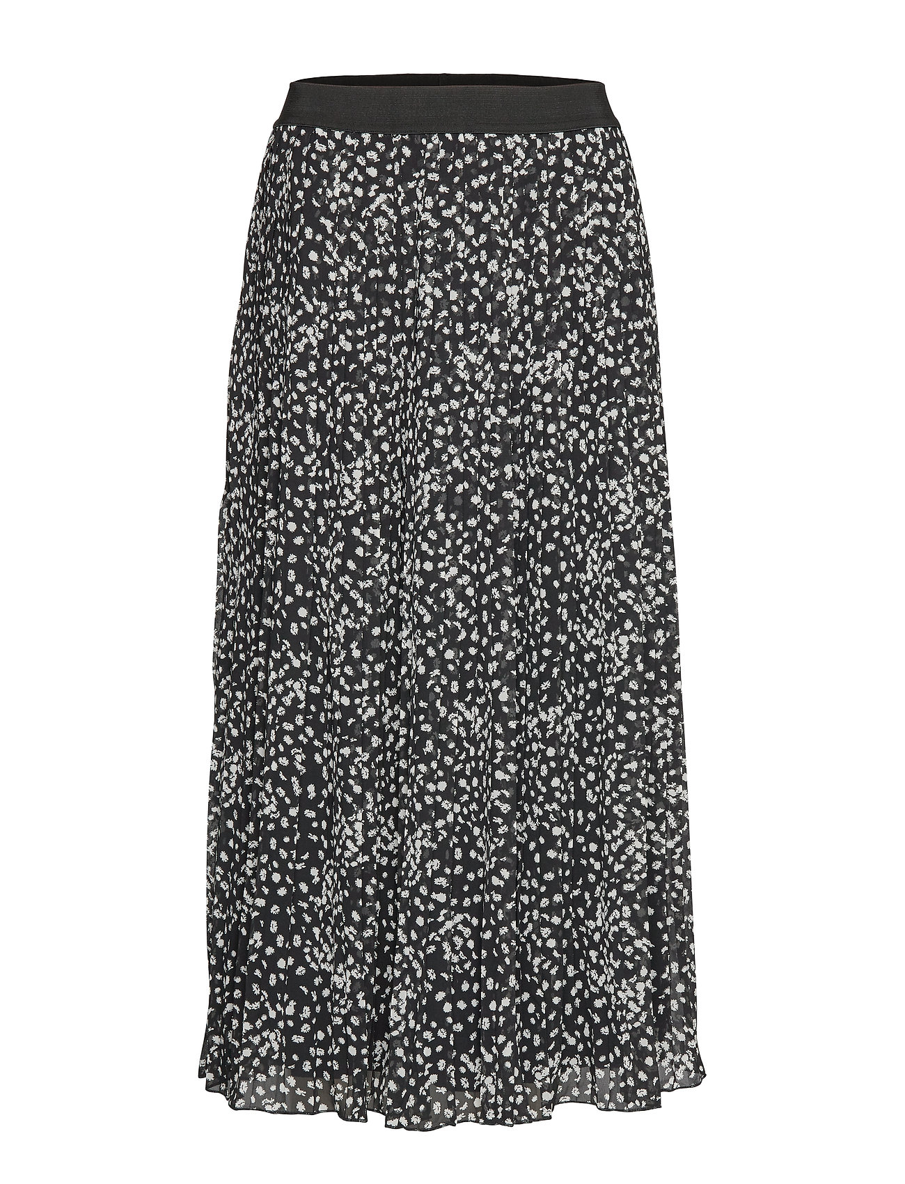 Soft Rebels Sally Midi Skirt print - FLORA MONOCROME PRINT