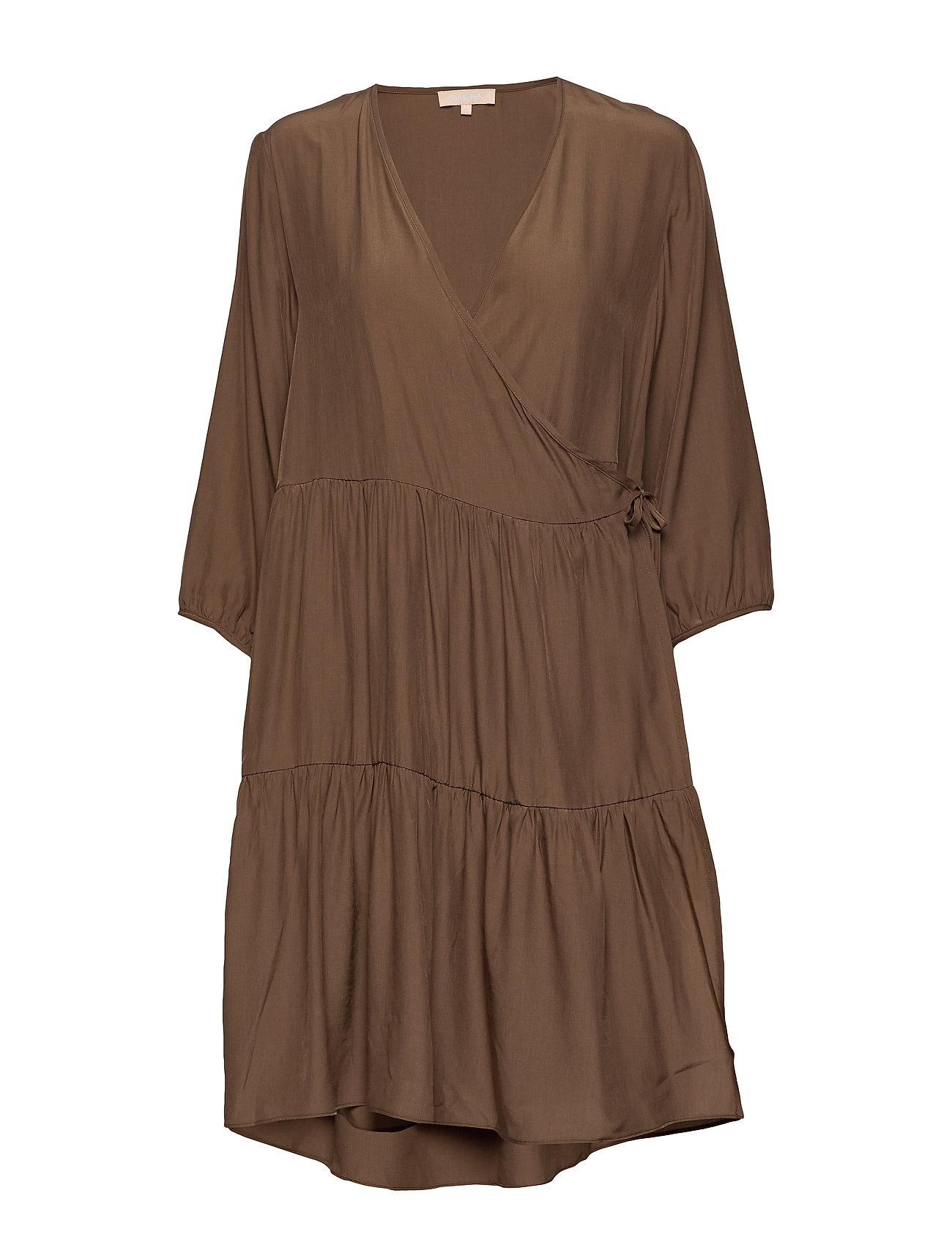 Soft Rebels Stella 3/4 Dress - PARTRIDGE