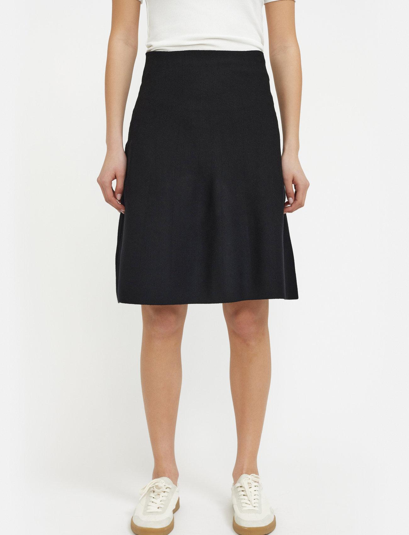 Soft Rebels - Henrietta Skirt - midi skirts - black - 0