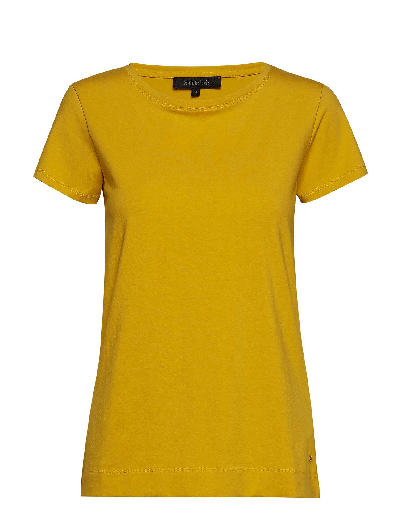 Soft Rebels Elle T-shirt - CEYLON YELLOW