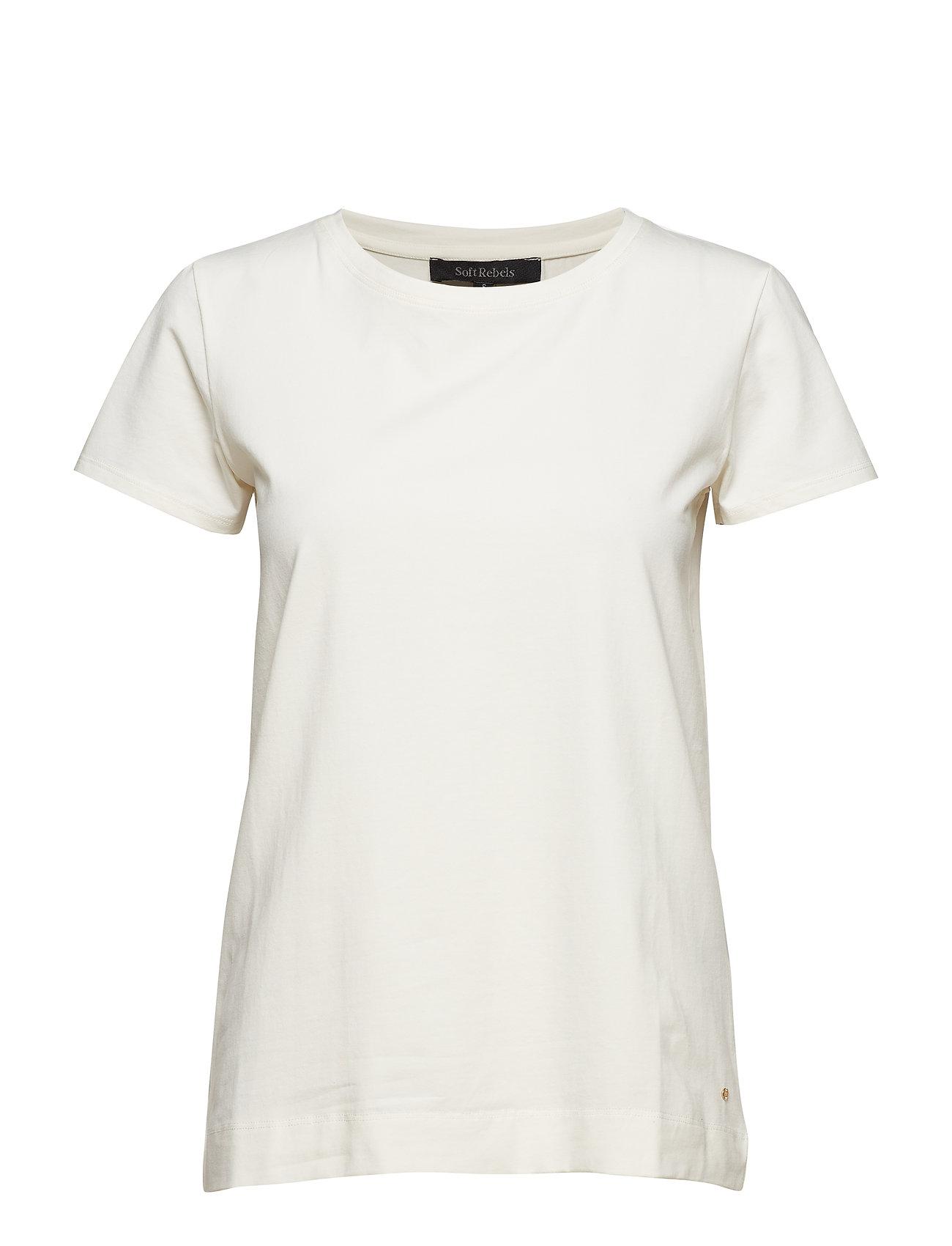 Soft Rebels Elle T-shirt - SNOW WHITE / OFF WHITE