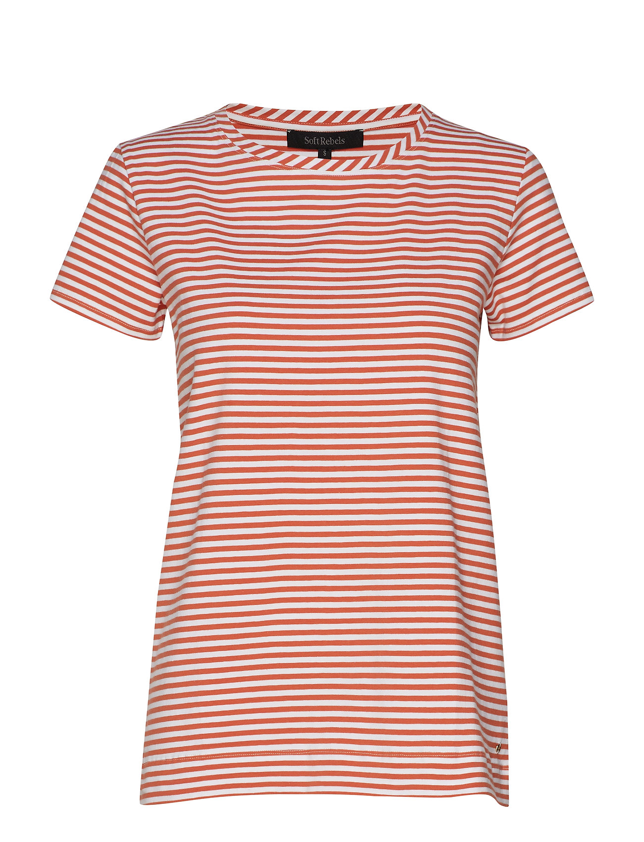 Soft Rebels Elle T-shirt y/d stripes - GINGER SPICE