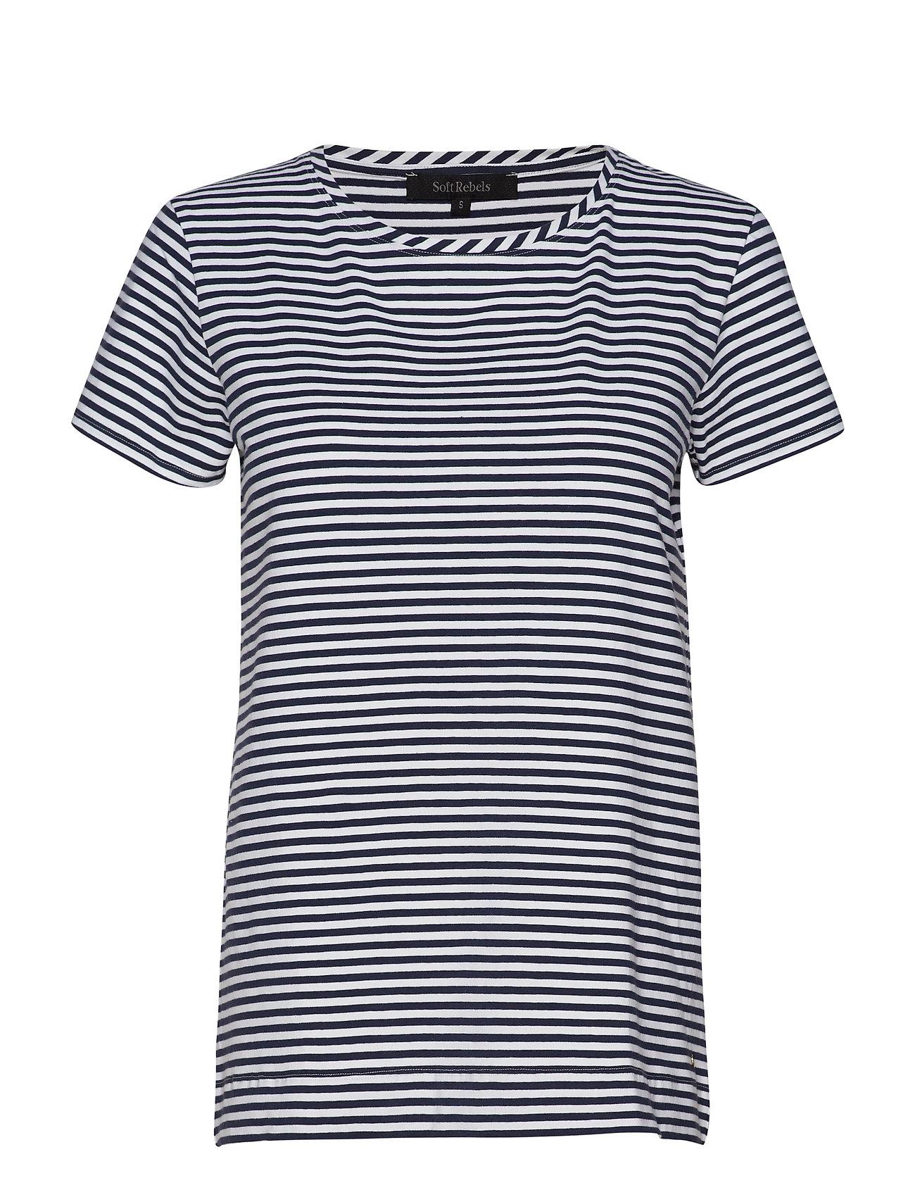 Soft Rebels Elle T-shirt y/d stripes