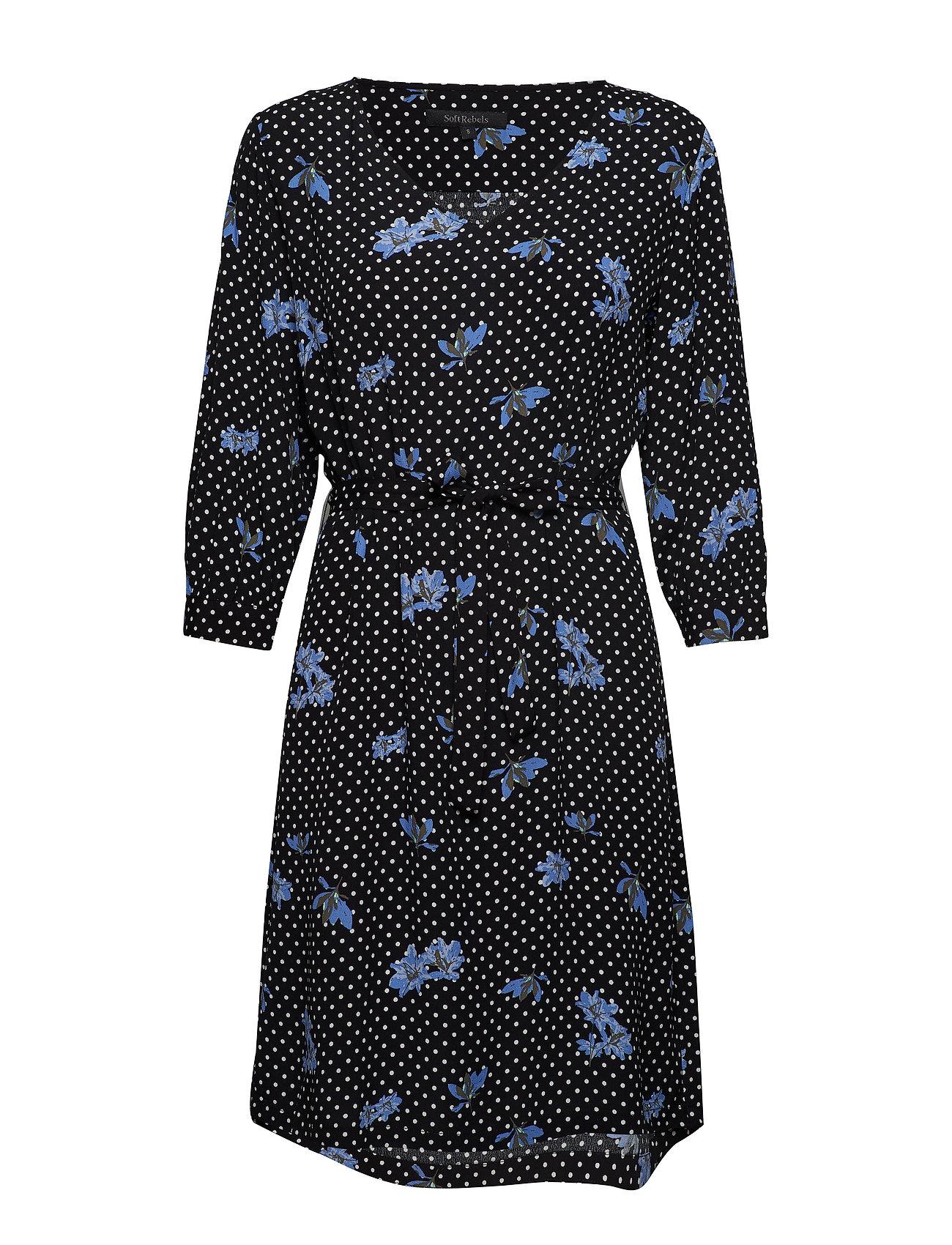 Soft Rebels Karlin Dress - DOT FLOWER PRINT