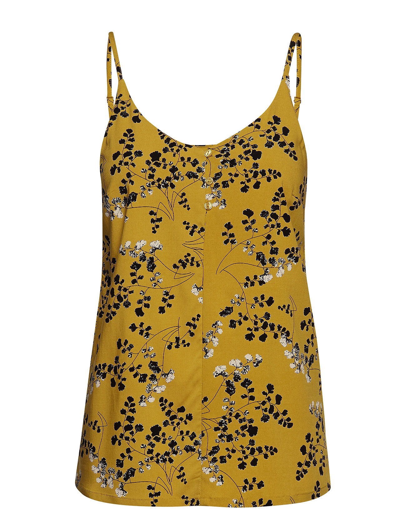 Soft Rebels Karoline Strap Top - LEAF PRINT - CEYLON YELLOW