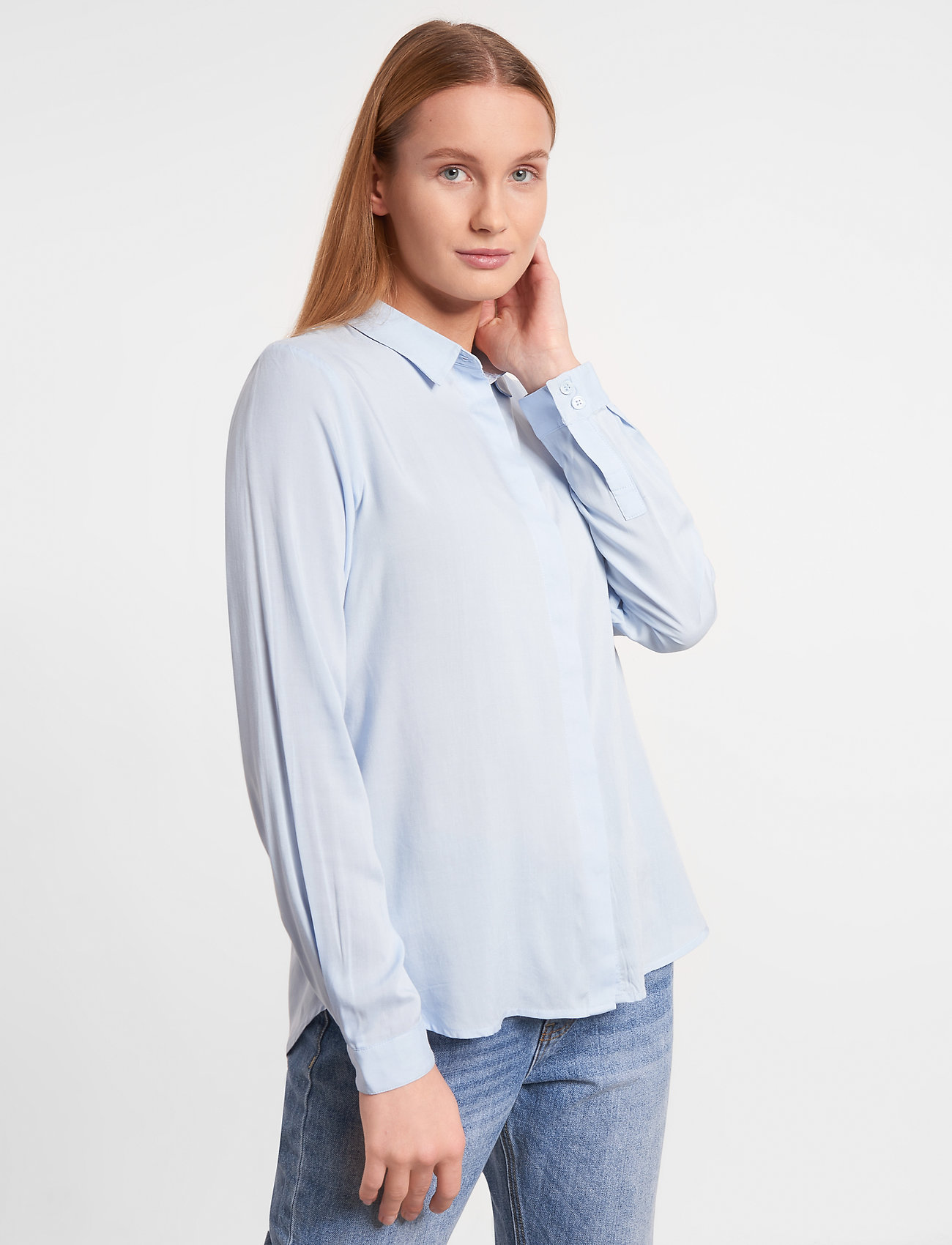 Soft Rebels - SRFreedom LS Shirt - long-sleeved shirts - cashmere blue - 0