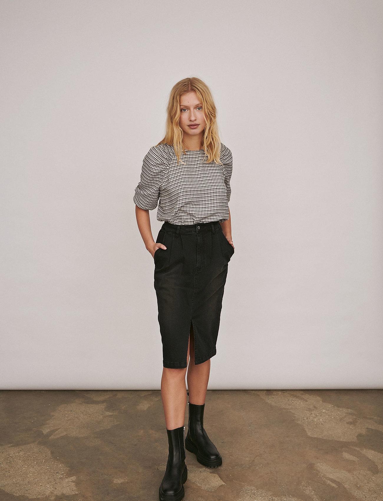 Soft Rebels - Mate 3/4 Top - blouses med lange mouwen - black - 0