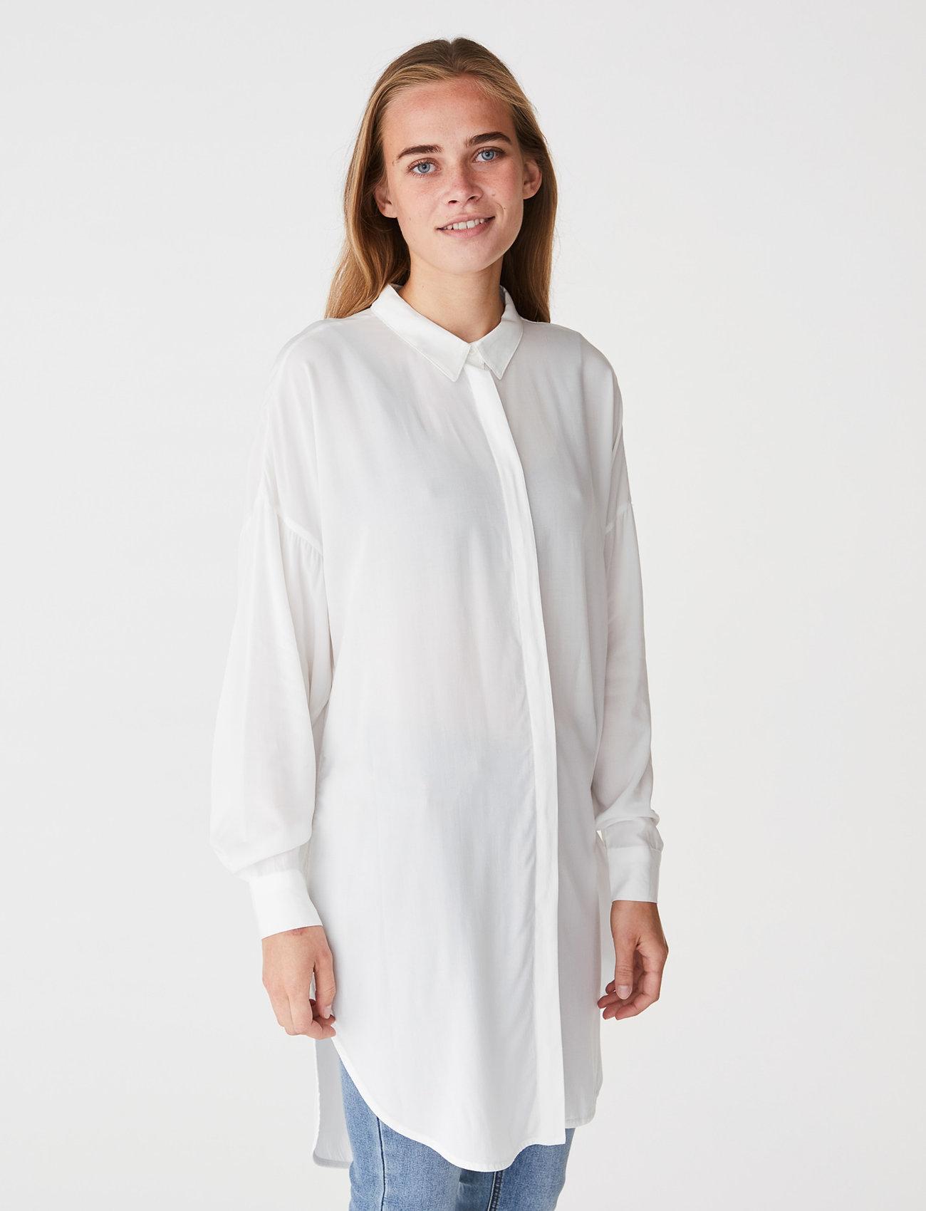 Soft Rebels - SRFreedom Long Shirt - tunics - snow white / off white - 0