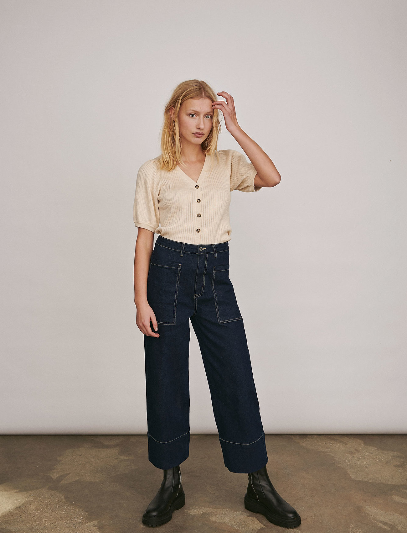 Soft Rebels - Janet High Waist Jeans - brede jeans - rinse wash blue - 0