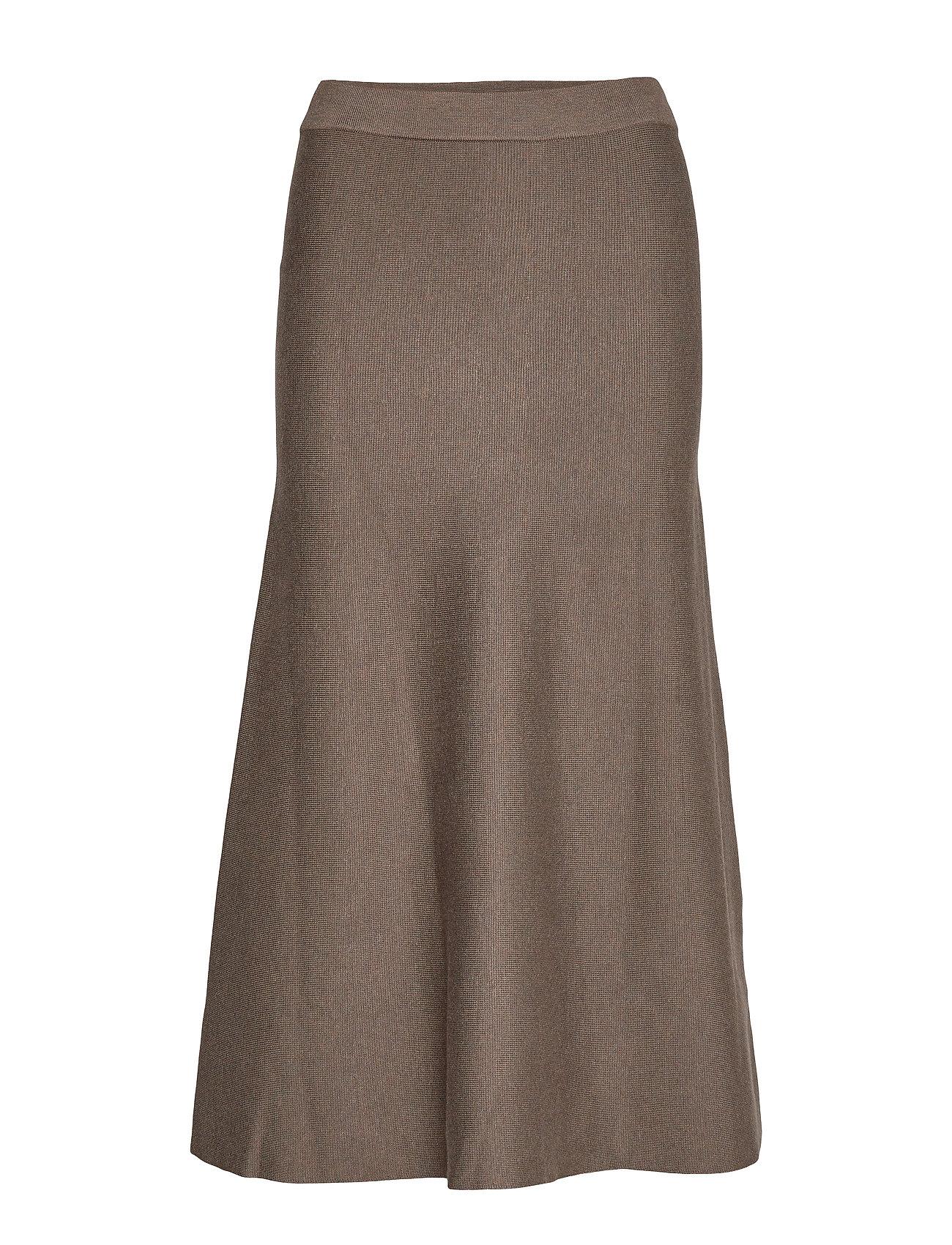 Soft Rebels Henrietta Long Skirt - PARTRIDGE