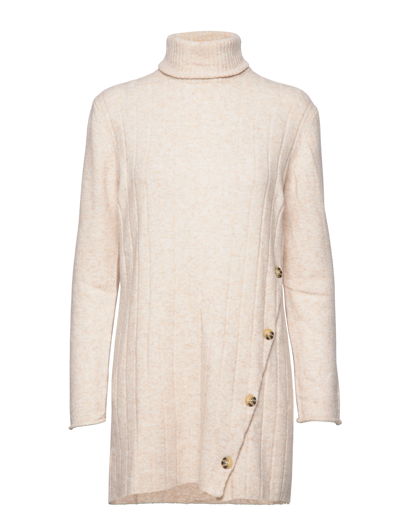 Soft Rebels Claire Rollneck Long Knit - BLEACHED SAND