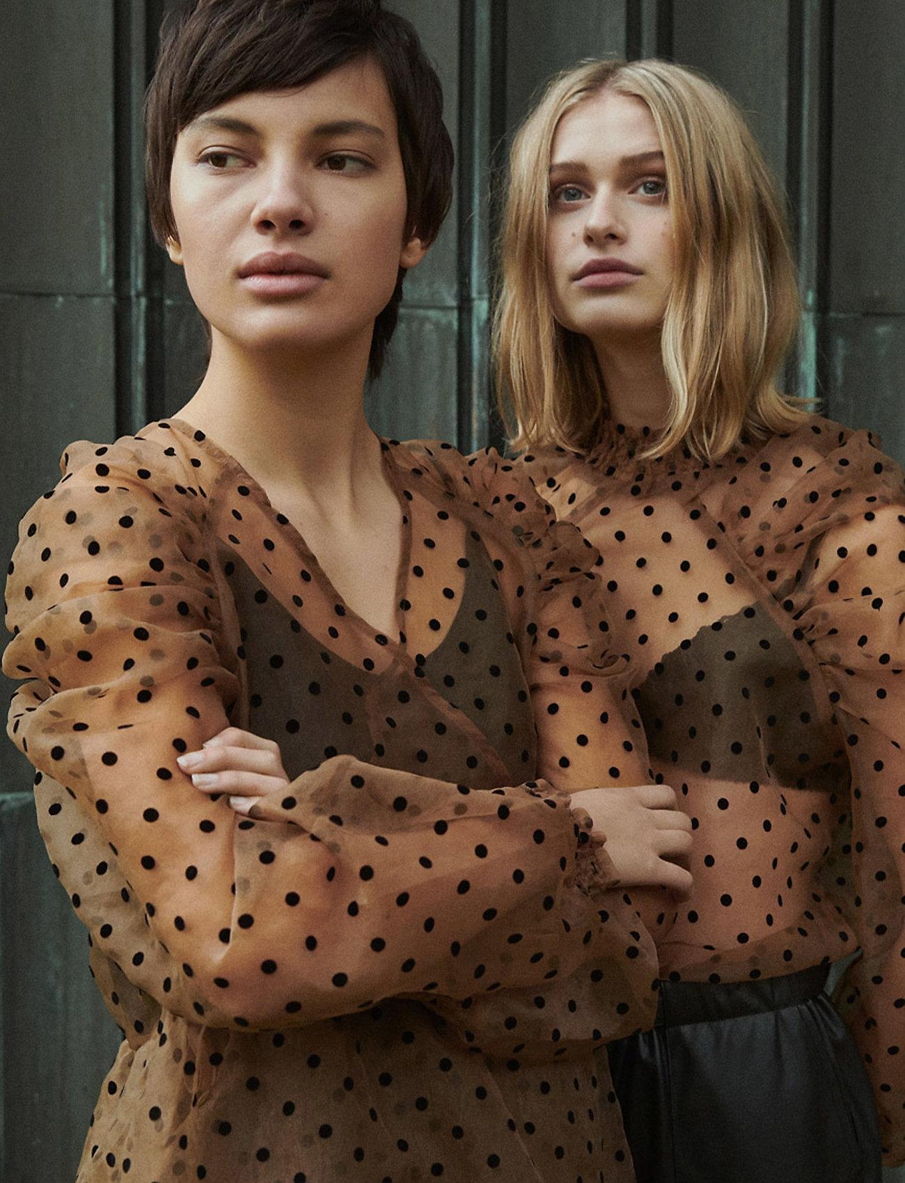 Soft Rebels - Tula Midi Wrap Dress - wrap dresses - iced coffee - 0
