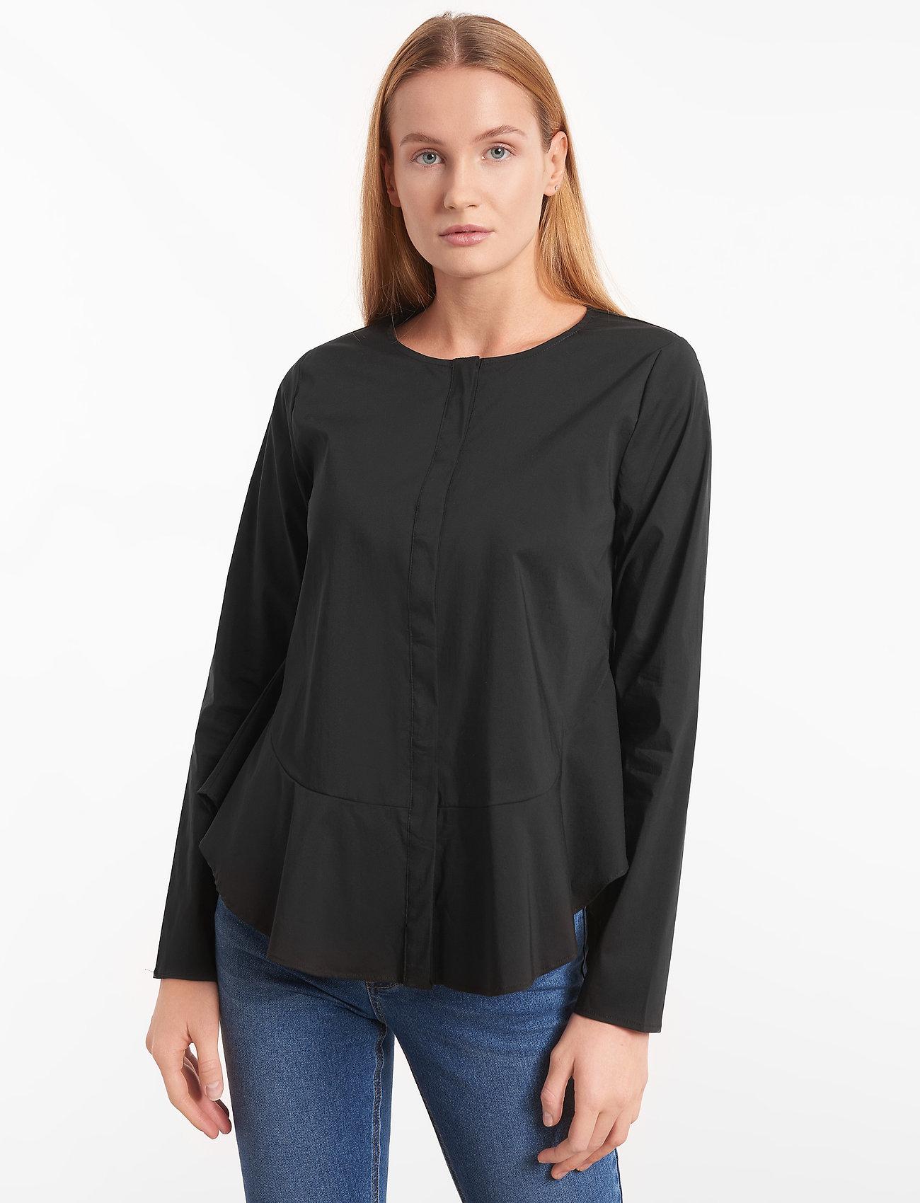Soft Rebels - Aimee Shirt - long sleeved blouses - black - 0