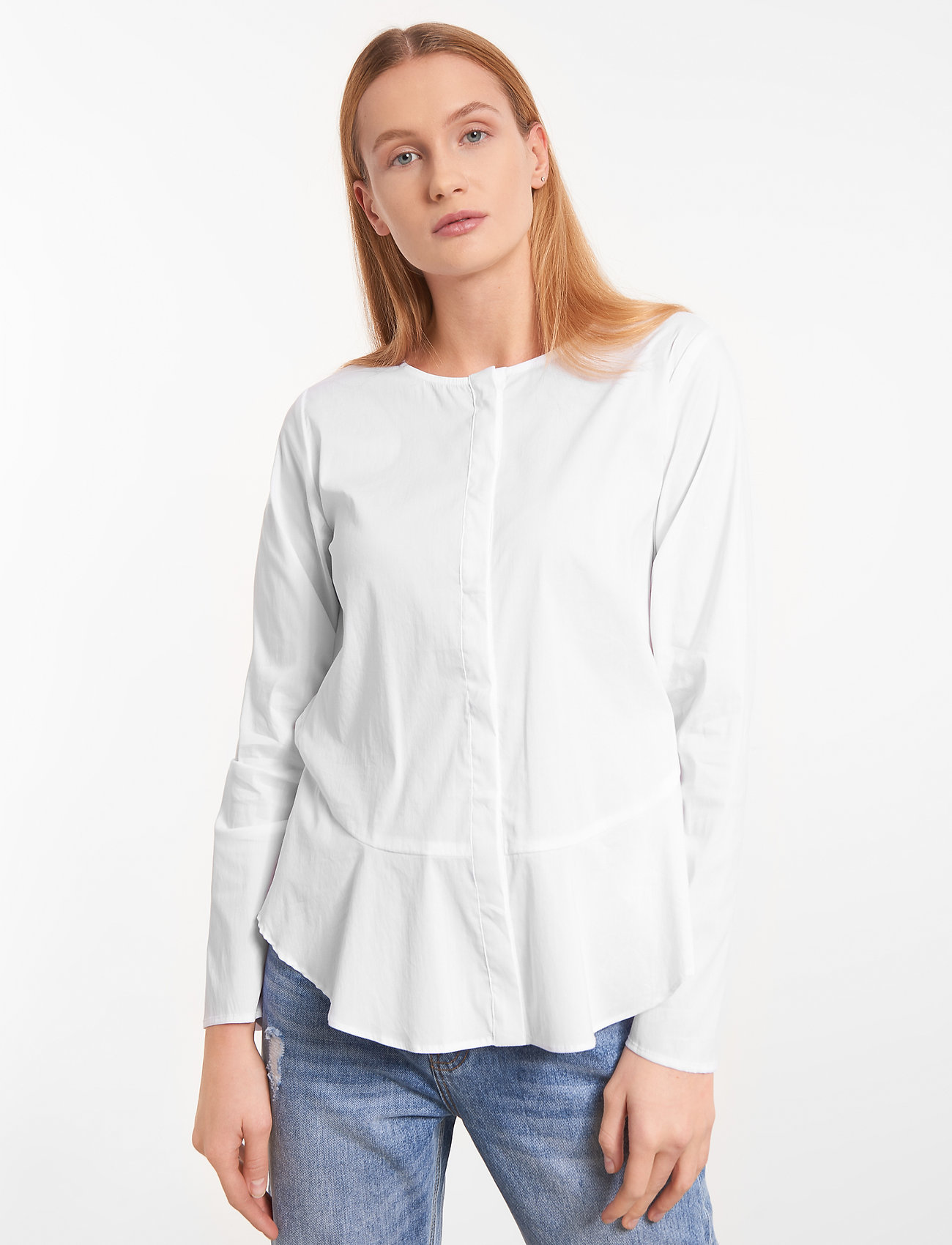 Soft Rebels - Aimee Shirt - long sleeved blouses - snow white / off white - 0