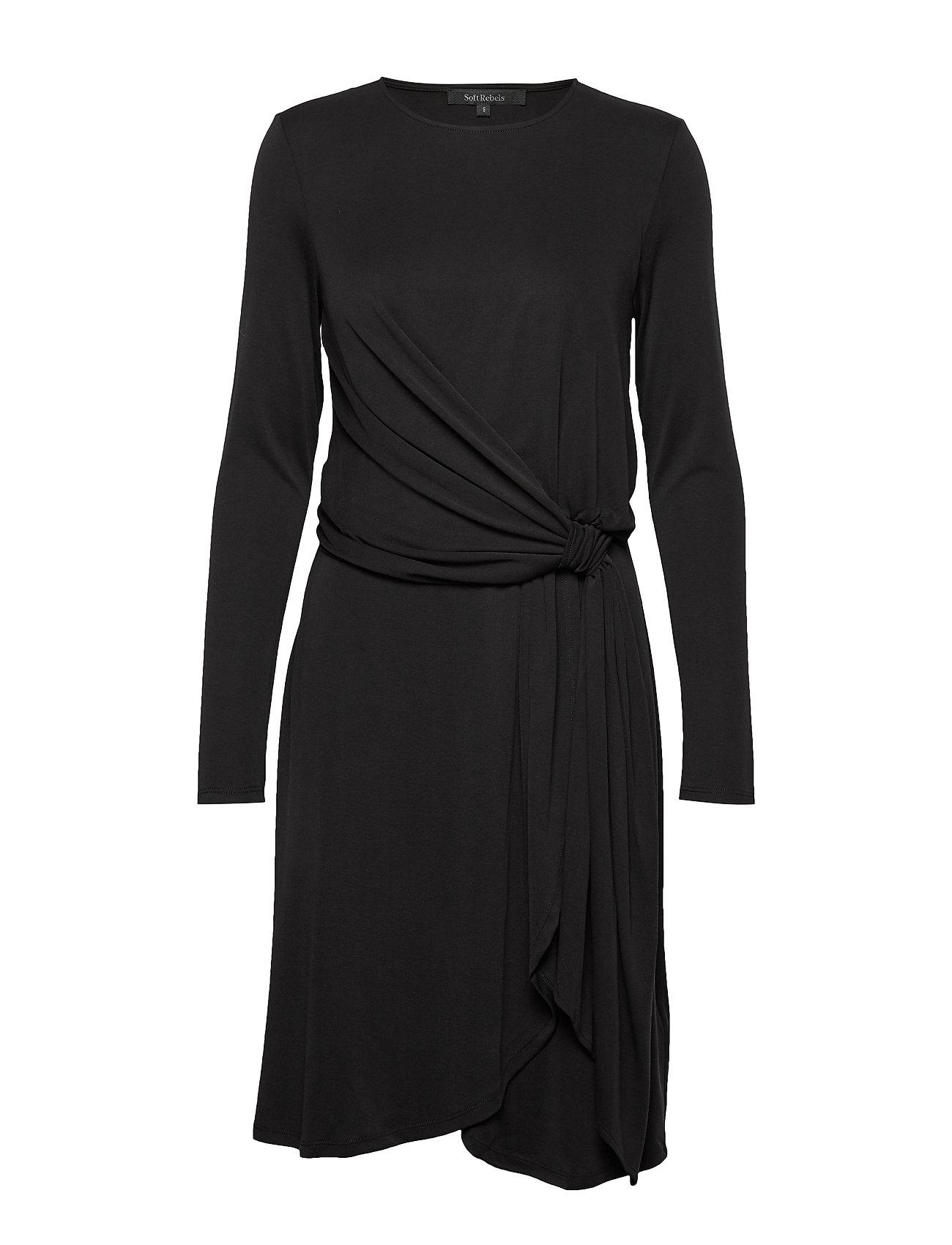 Soft Rebels Jennie LS Dress - BLACK