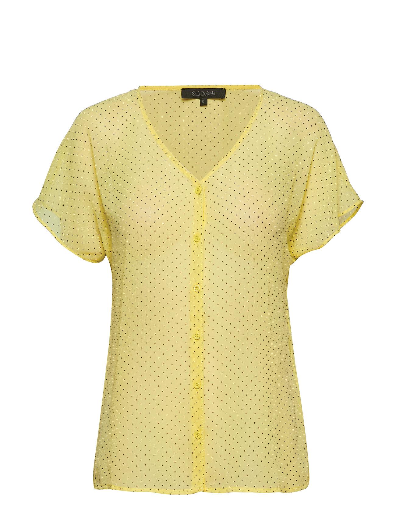 Soft Rebels Diana SS Shirt - ELFIN YELLOW