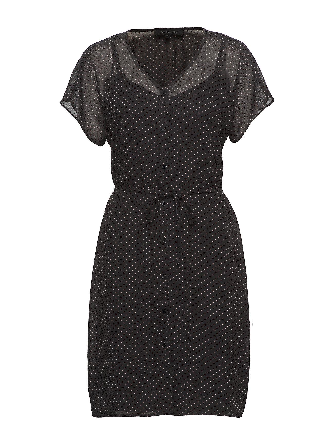 Soft Rebels Diana SS Dress - BLACK