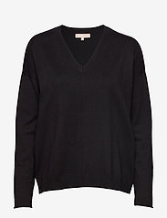 Soft Rebels - Zara V-neck Knit - trøjer - black - 1