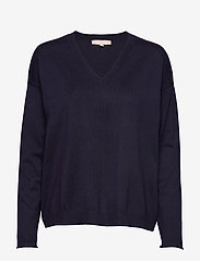 Soft Rebels - SRMarla V-neck Knit - trøjer - total eclipse - 1