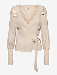 SRMarla LS Wrap Around Knit - WHITECAP GRAY
